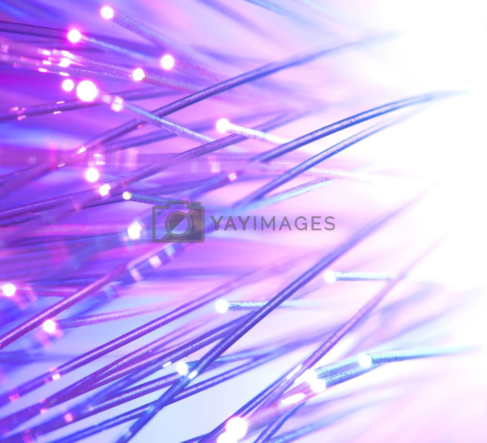 Optical fibers bright colors
