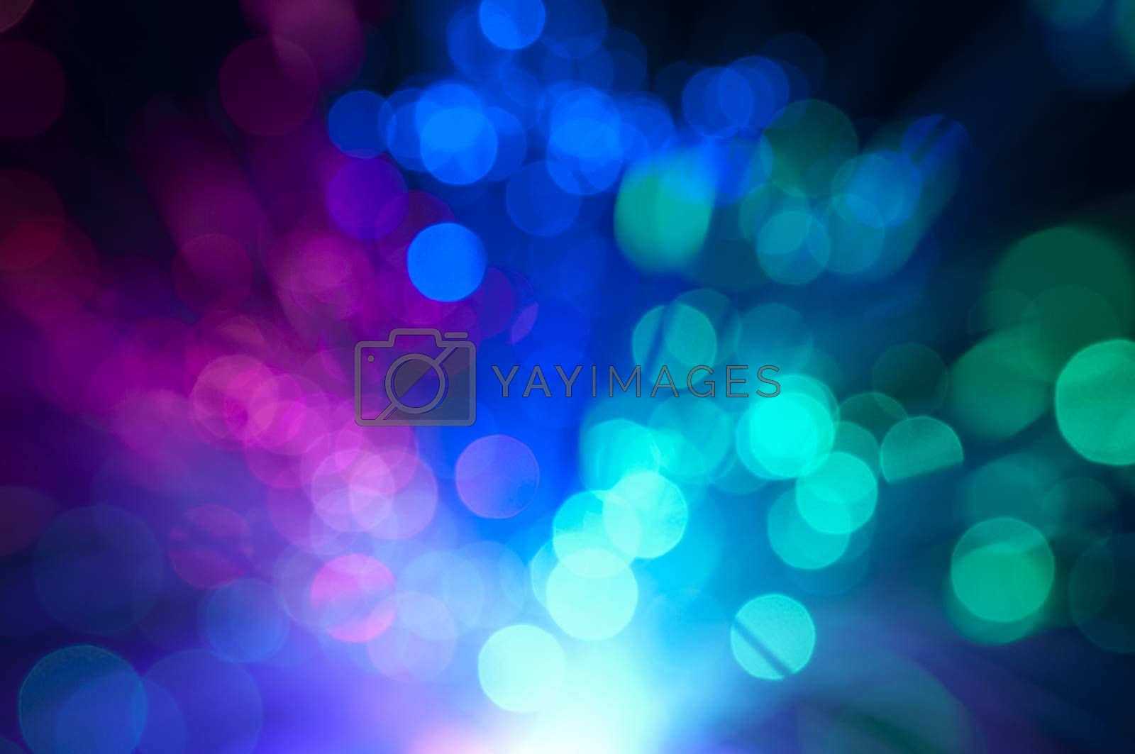 Blurry background with optical fibers