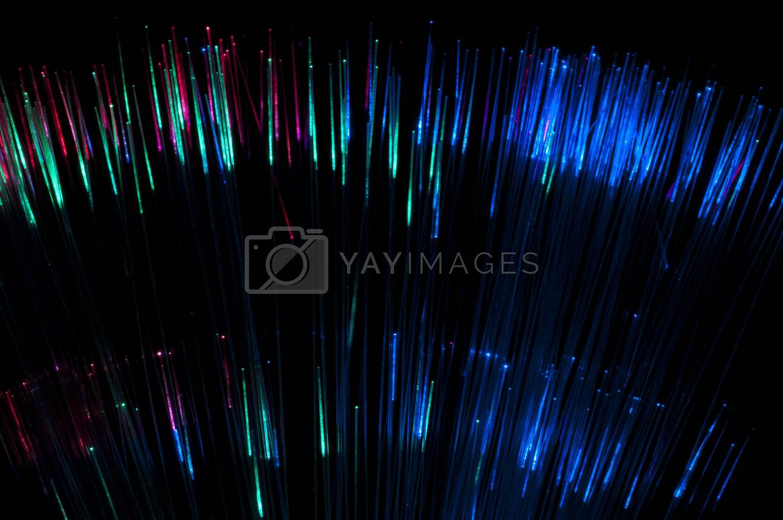 Multicolored optical fibers