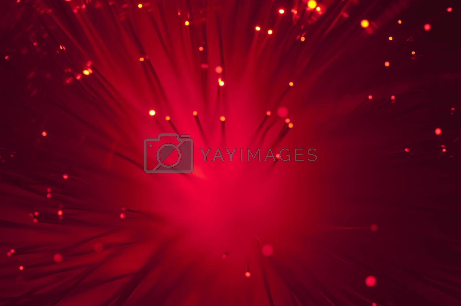 Red colors optical fibers