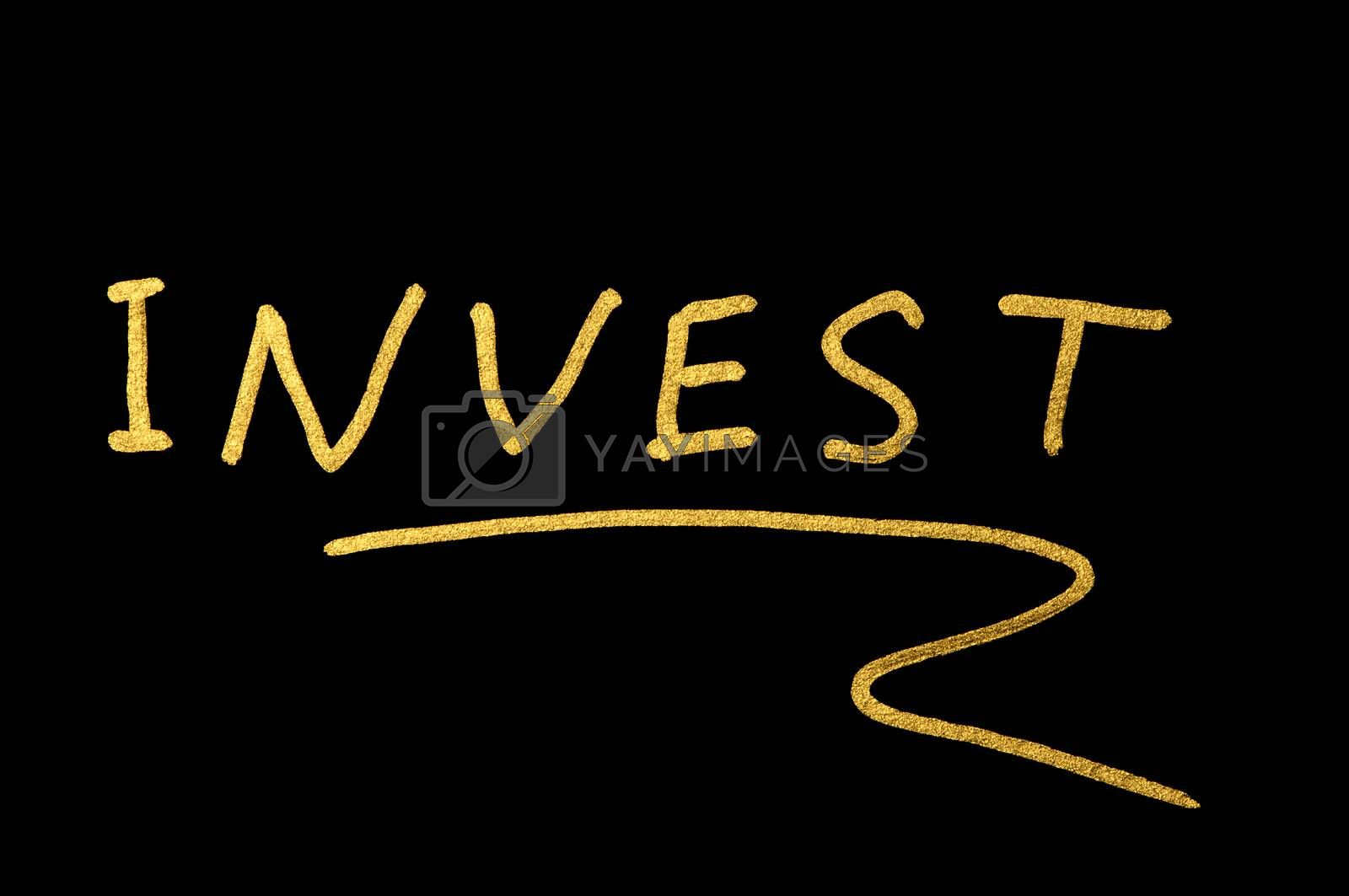 Investments conception text