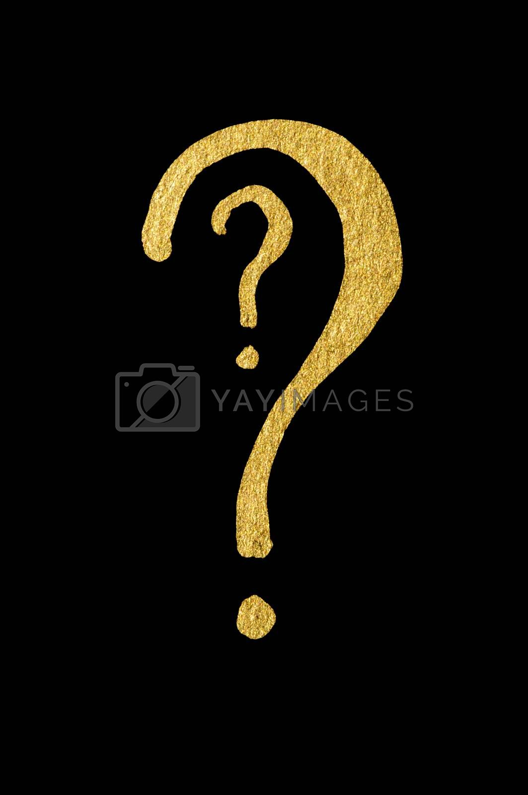 Question symbol conception over black