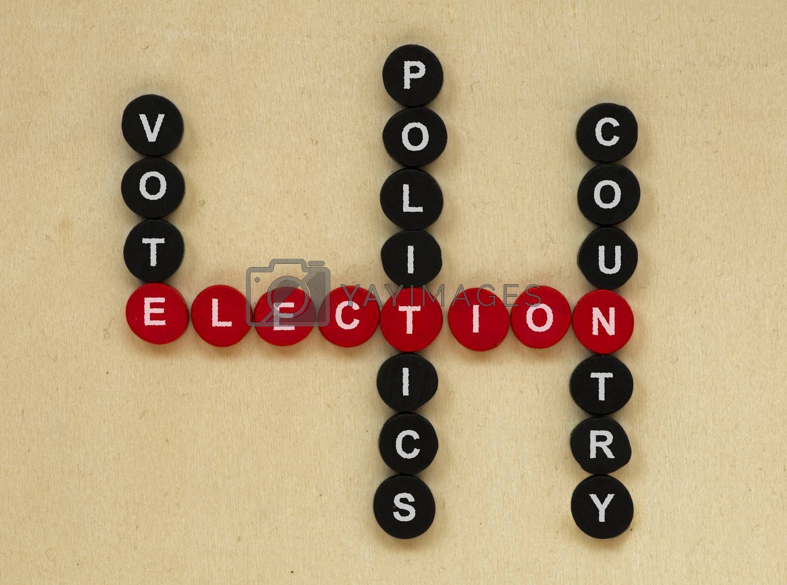 Elections conception texts in crossword.