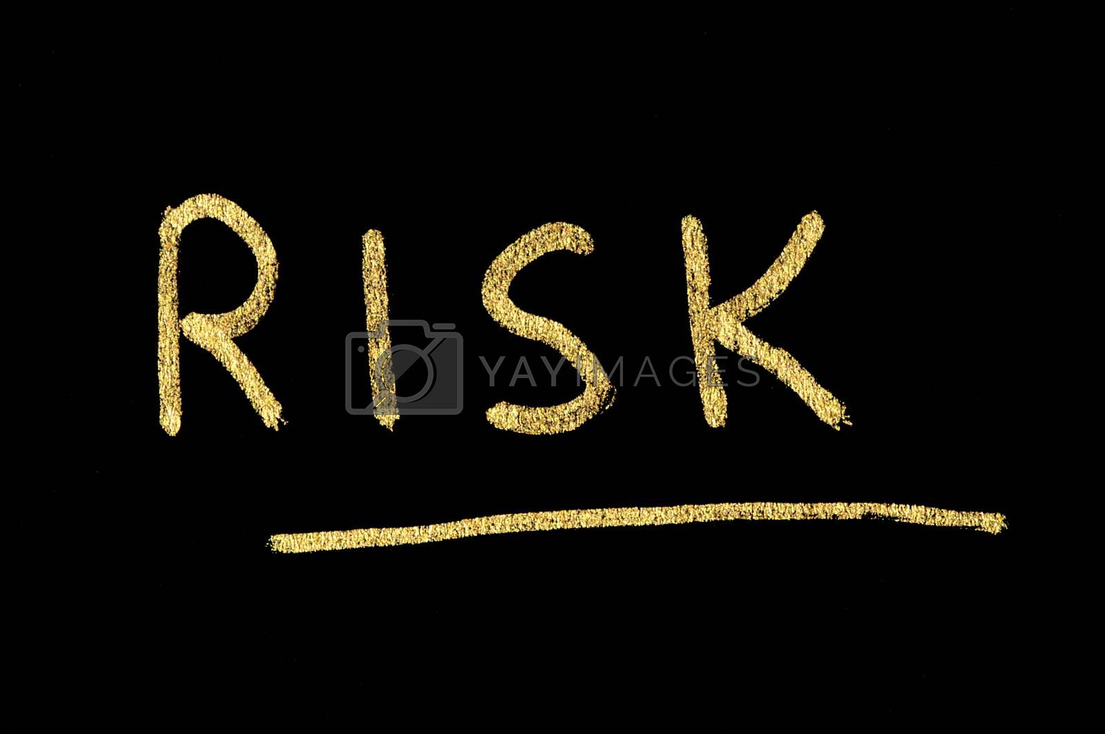 Text Risk conception over black