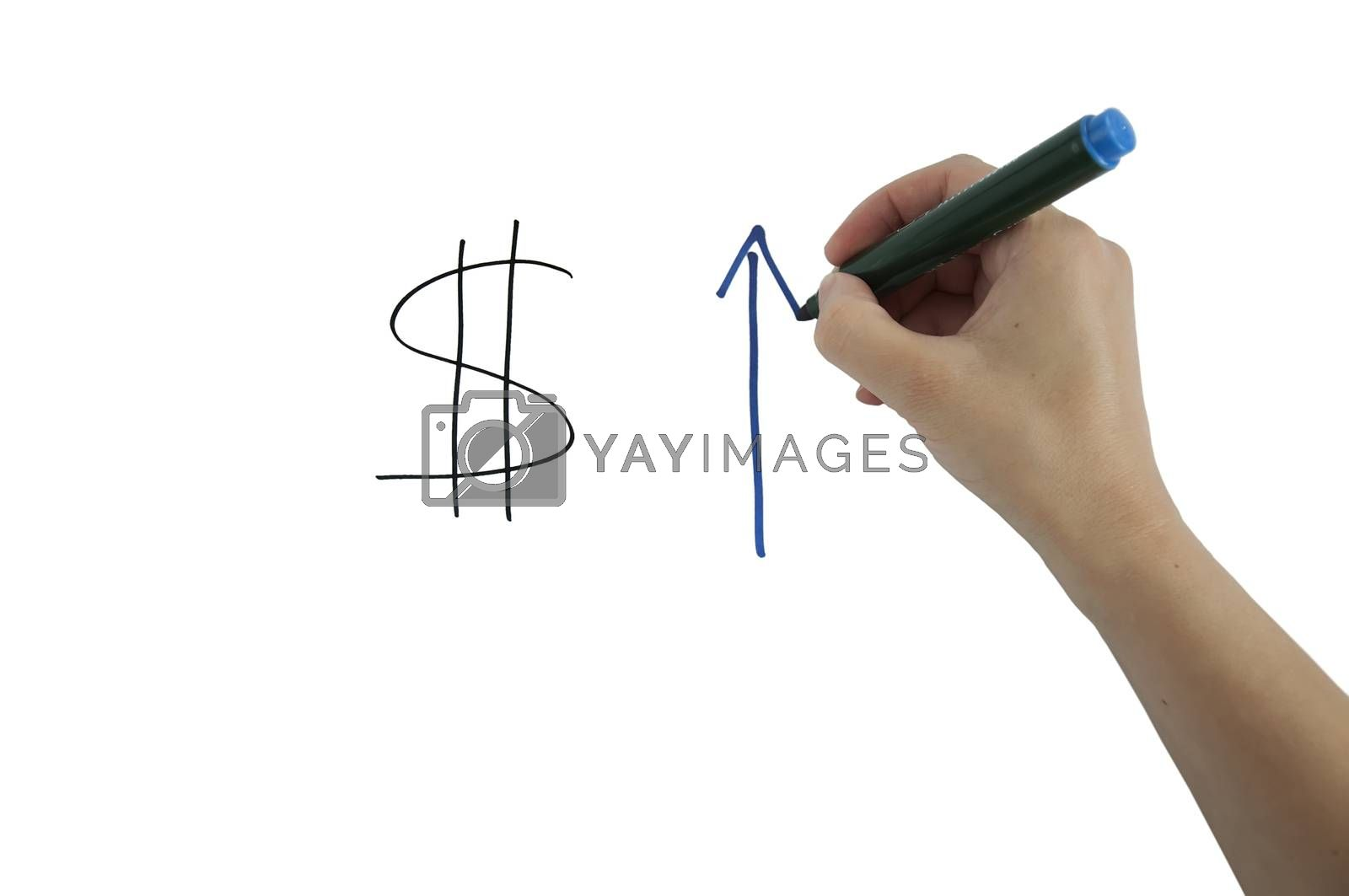 Currency, Exchange, Rates.Hand writing