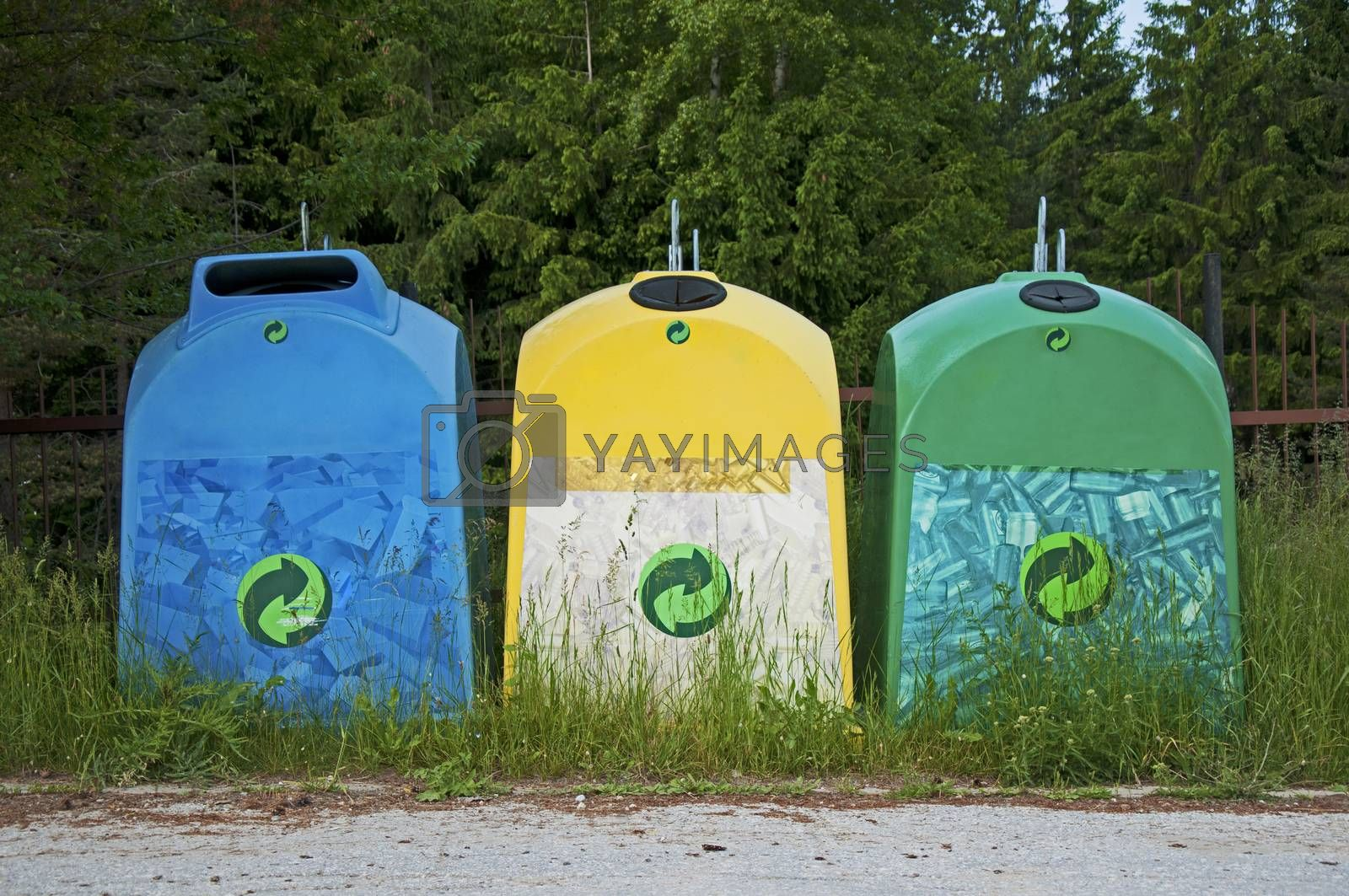 Trash Containers for Garbage in mountain