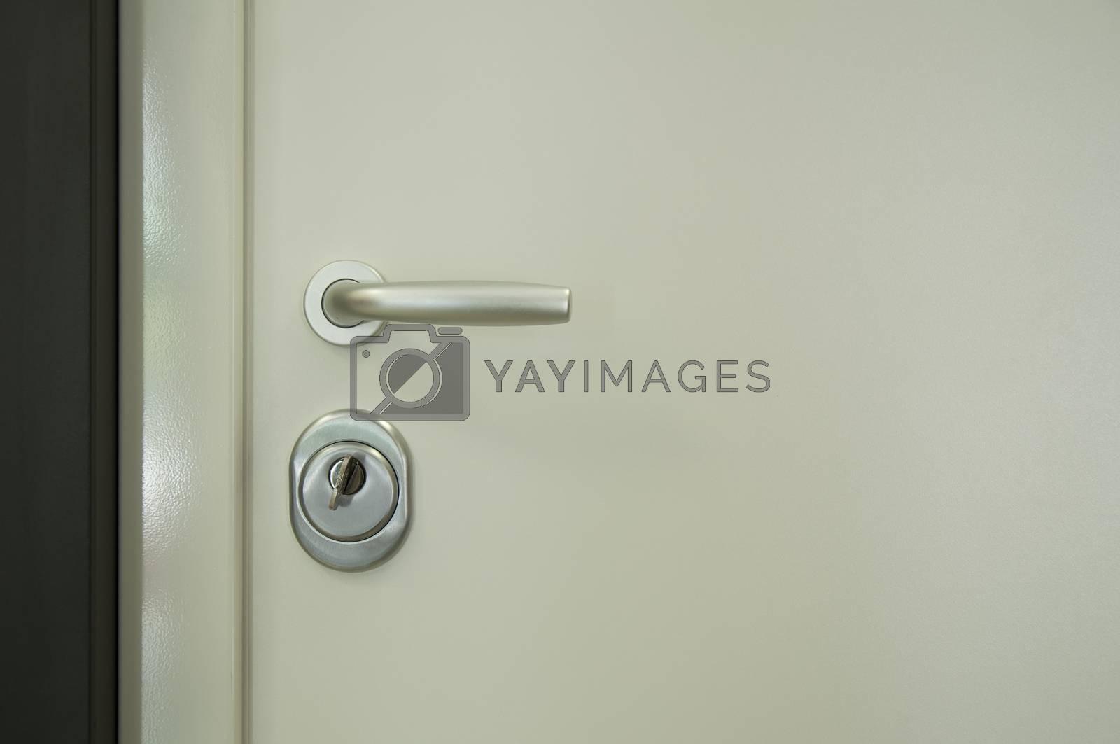 Door handle and part of the door