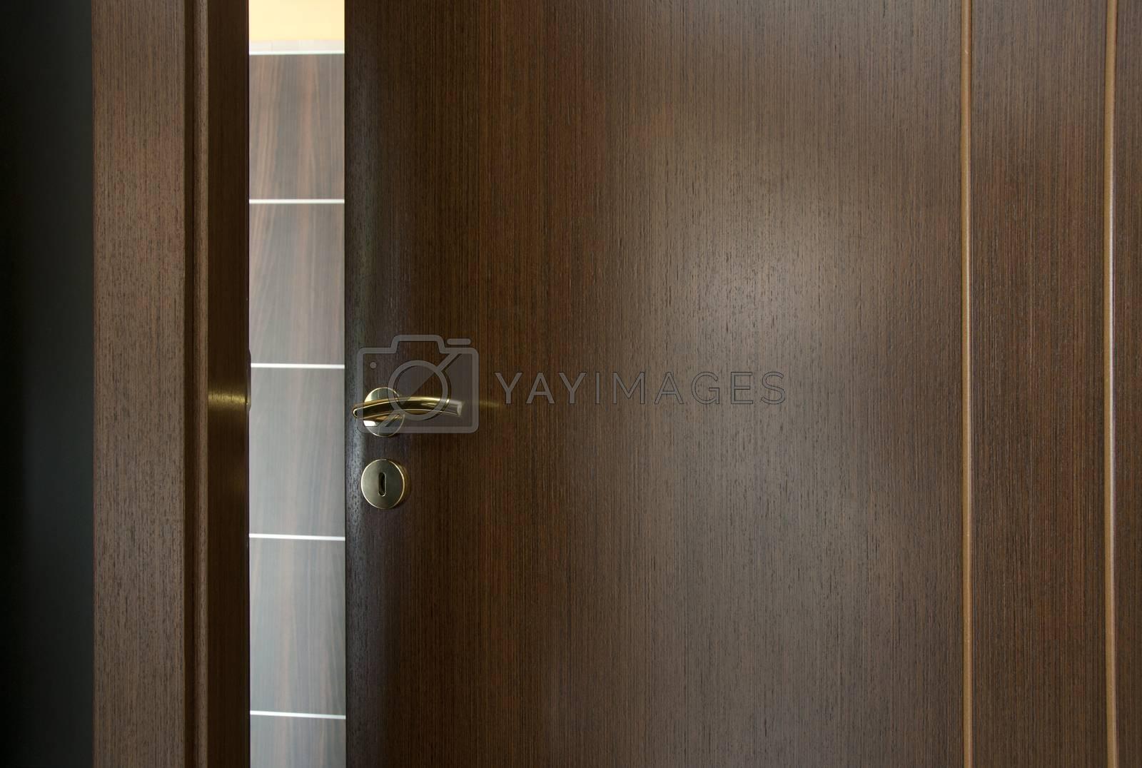 Opened door. Real estate idea