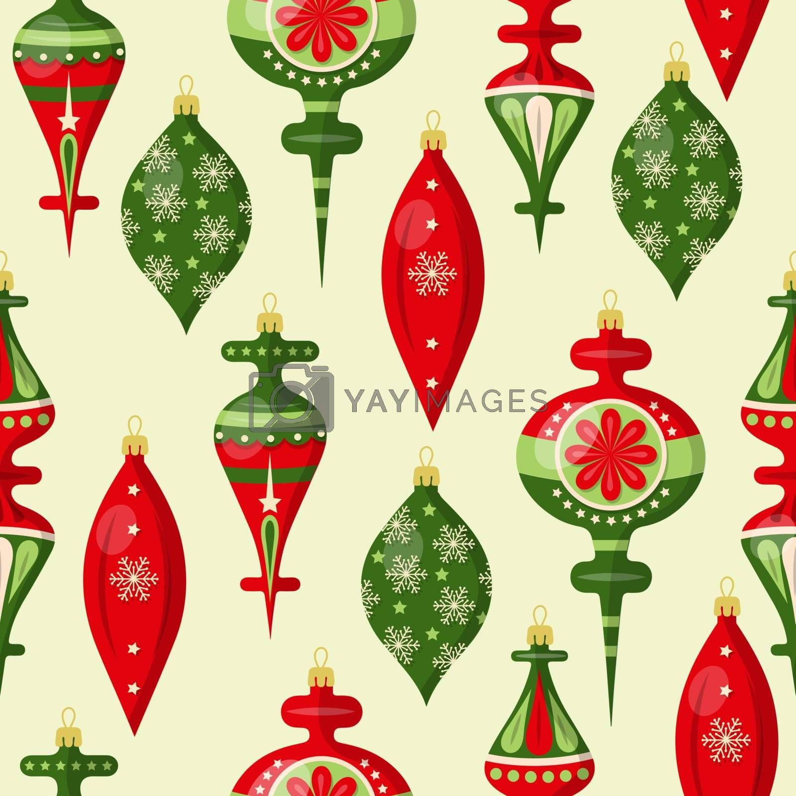 Christmas seamless pattern with balls