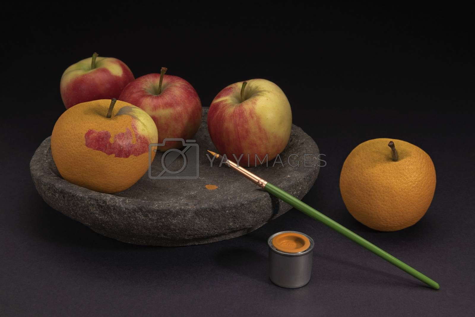 Surreal still life of fruit  by Tofotografie