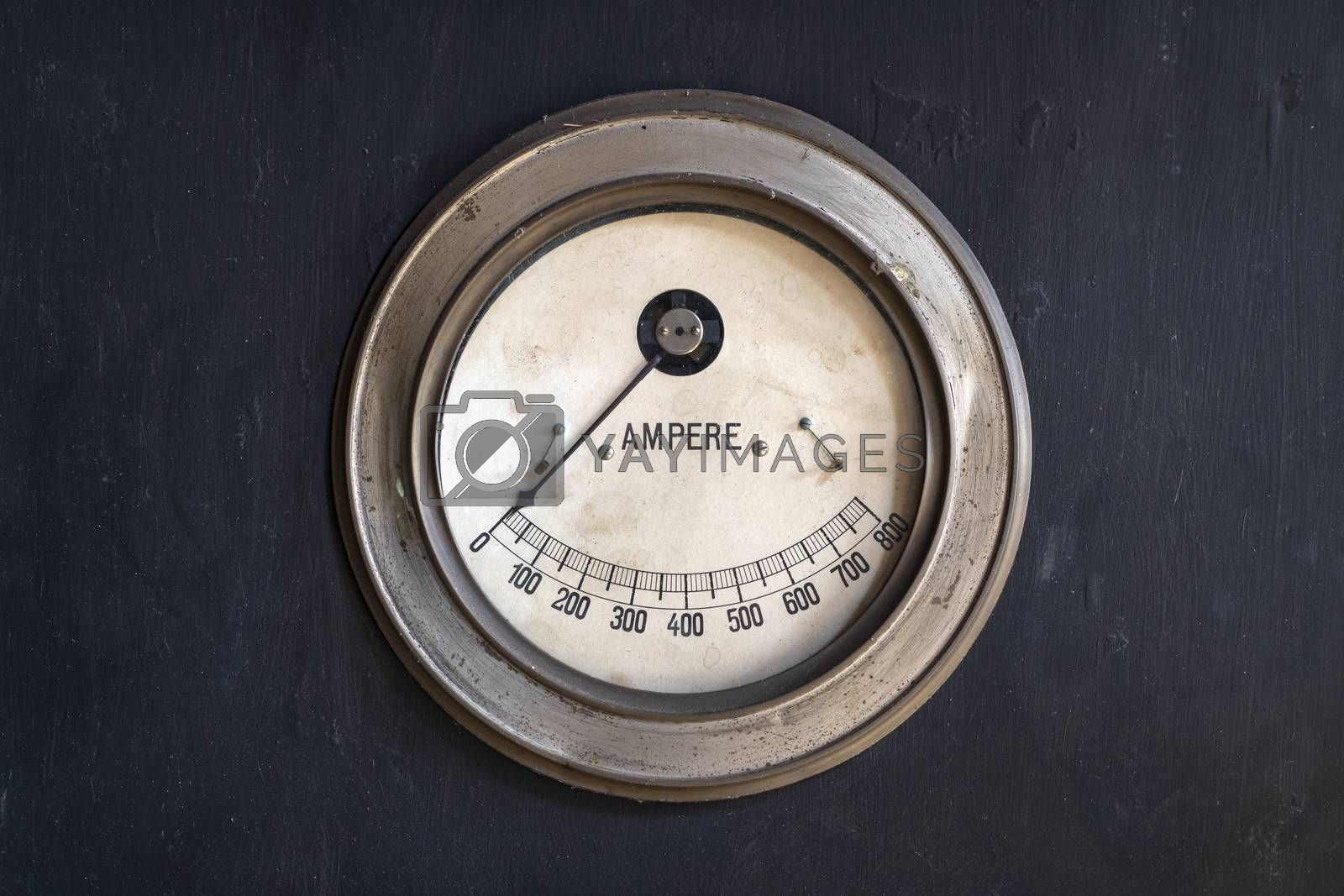 Old ammeter in a factory  by Tofotografie