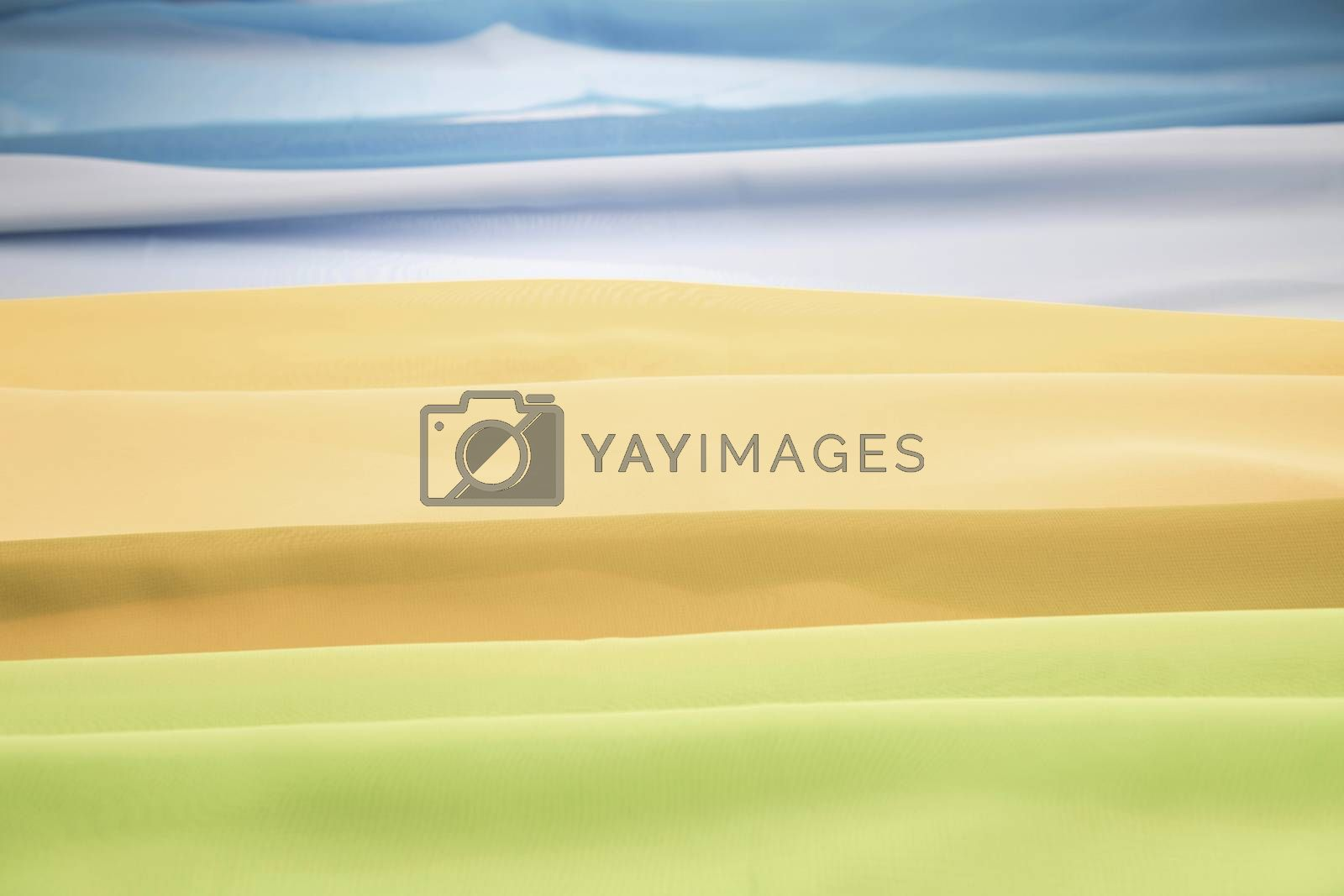 Abstract view of a landscape through cloths  by Tofotografie