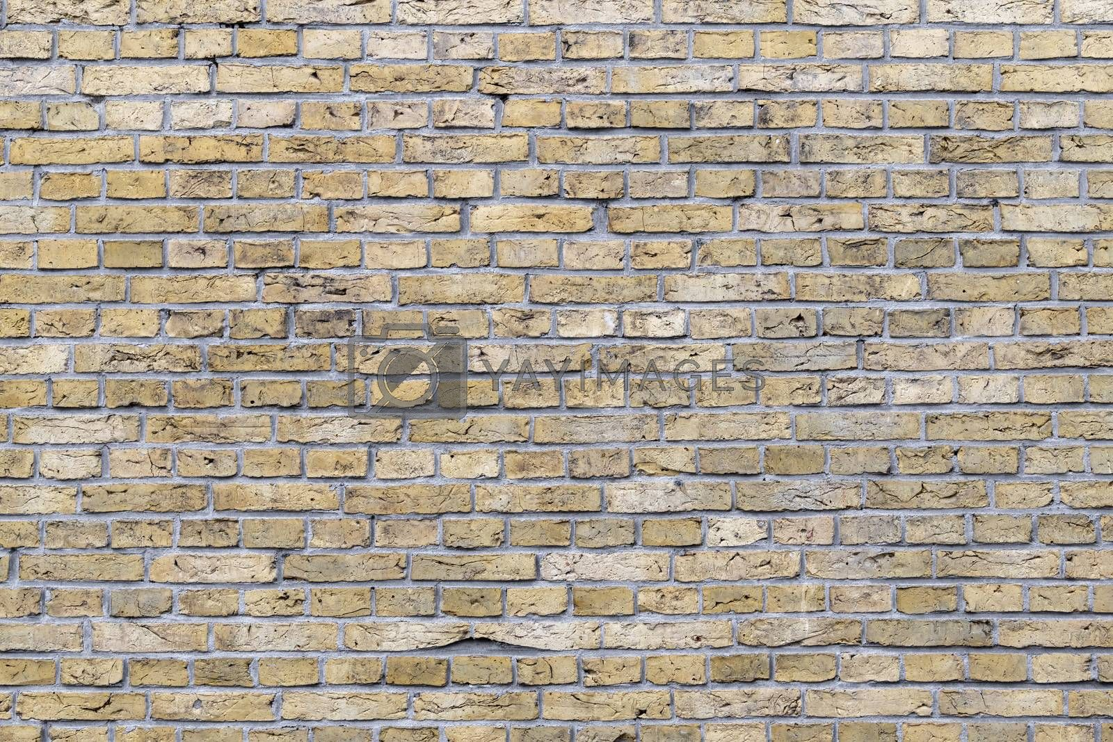 Background Photo of historic yellow brickwork in the North of the Netherlands