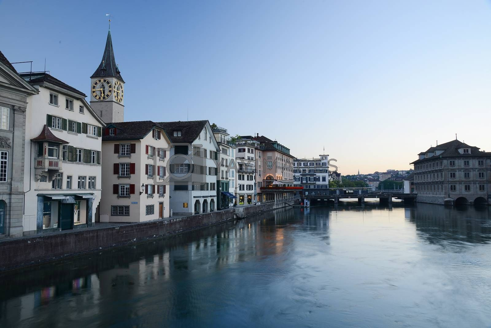 Royalty free image of zurich morning view by porbital