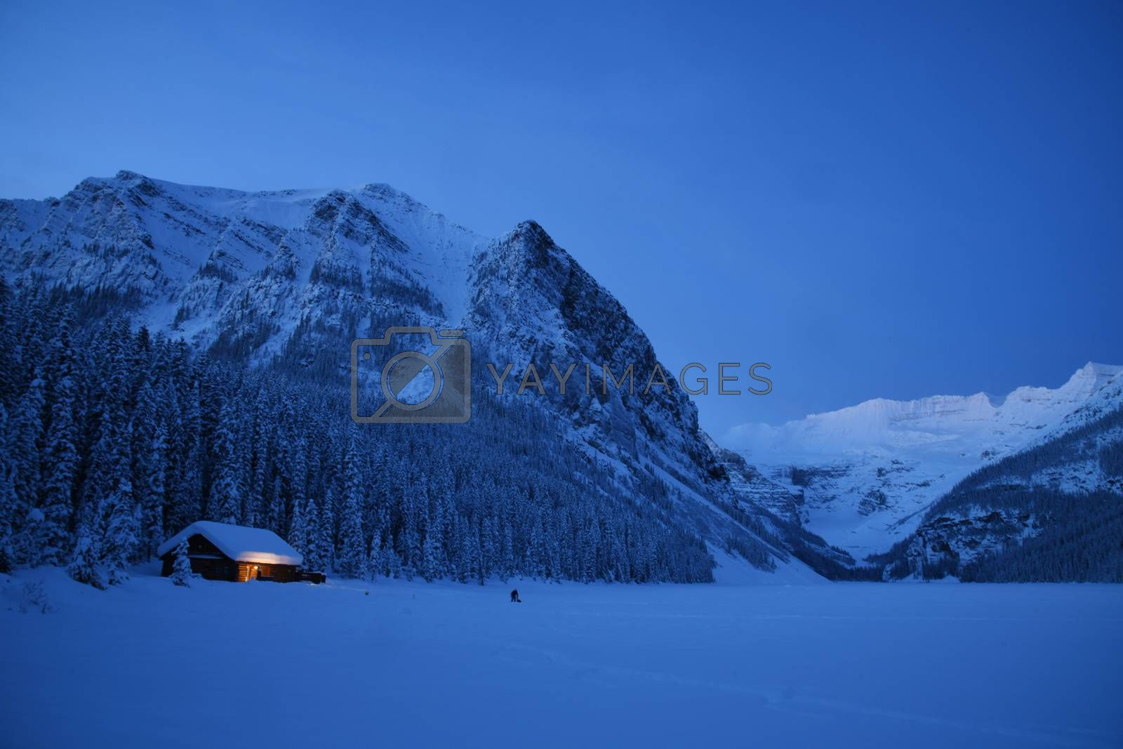 Royalty free image of Lake Louise sunrise in Winter by porbital
