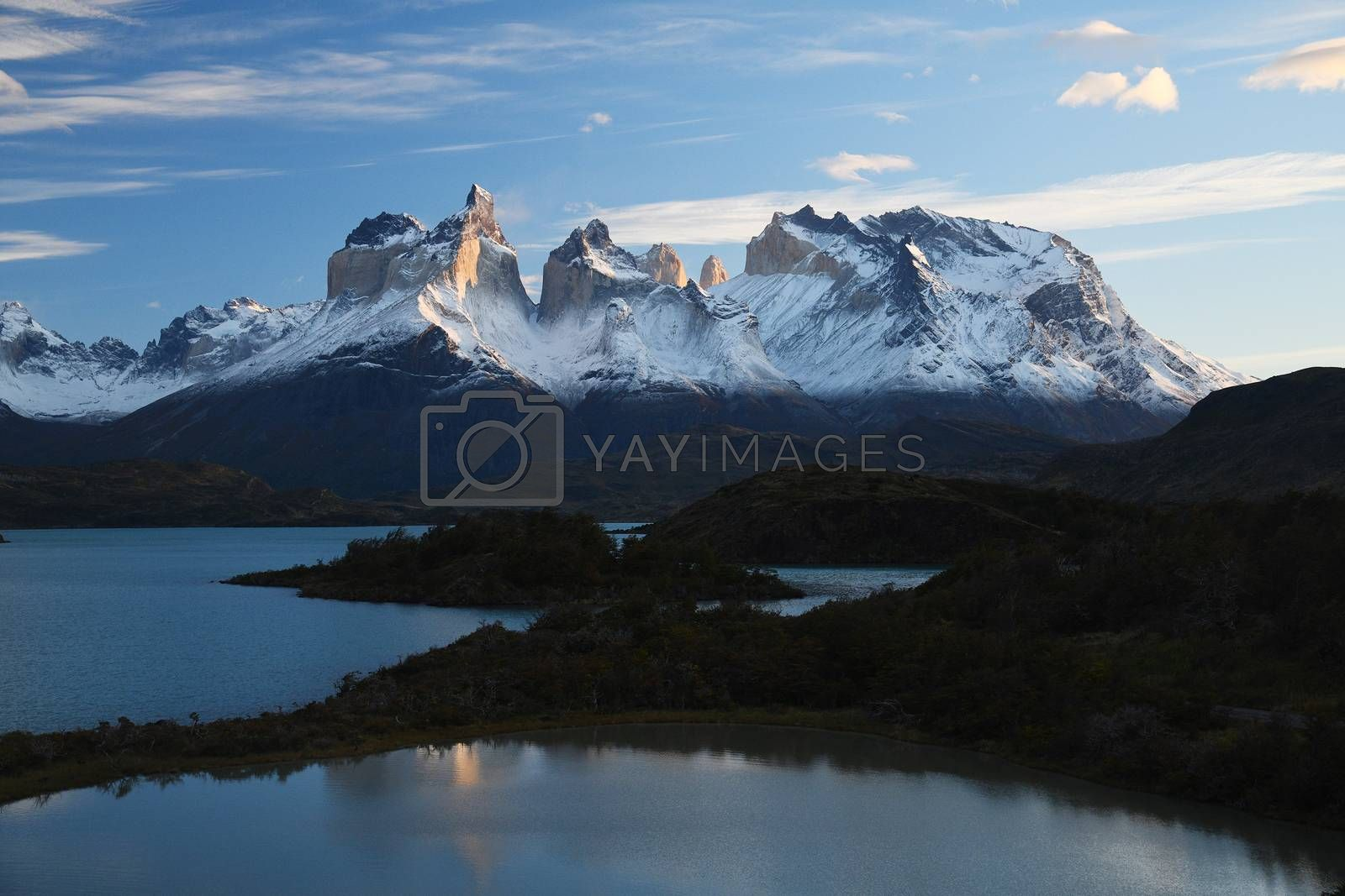 Royalty free image of Sunrise at Torres del Paine Chile by porbital