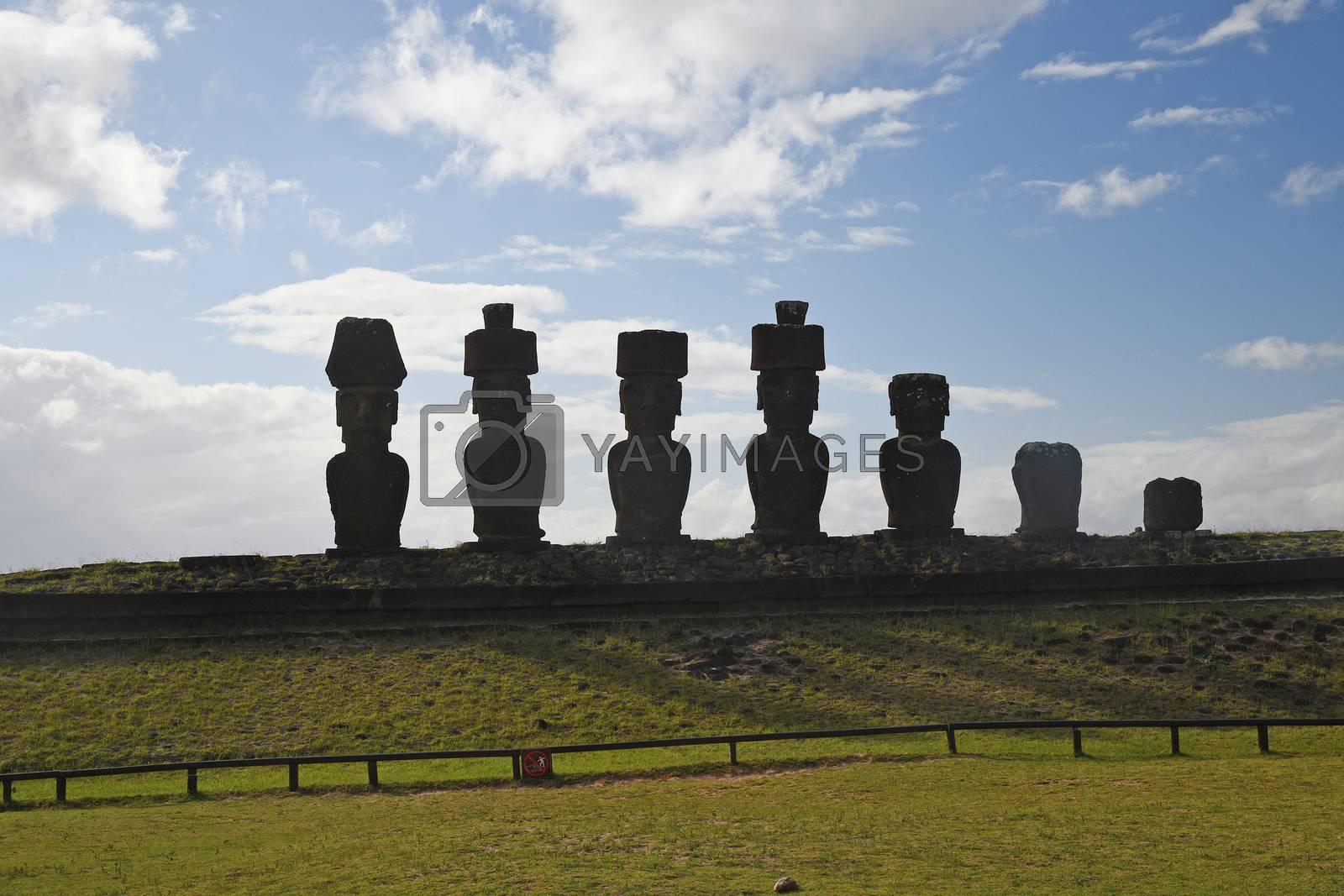 Royalty free image of Moai by porbital