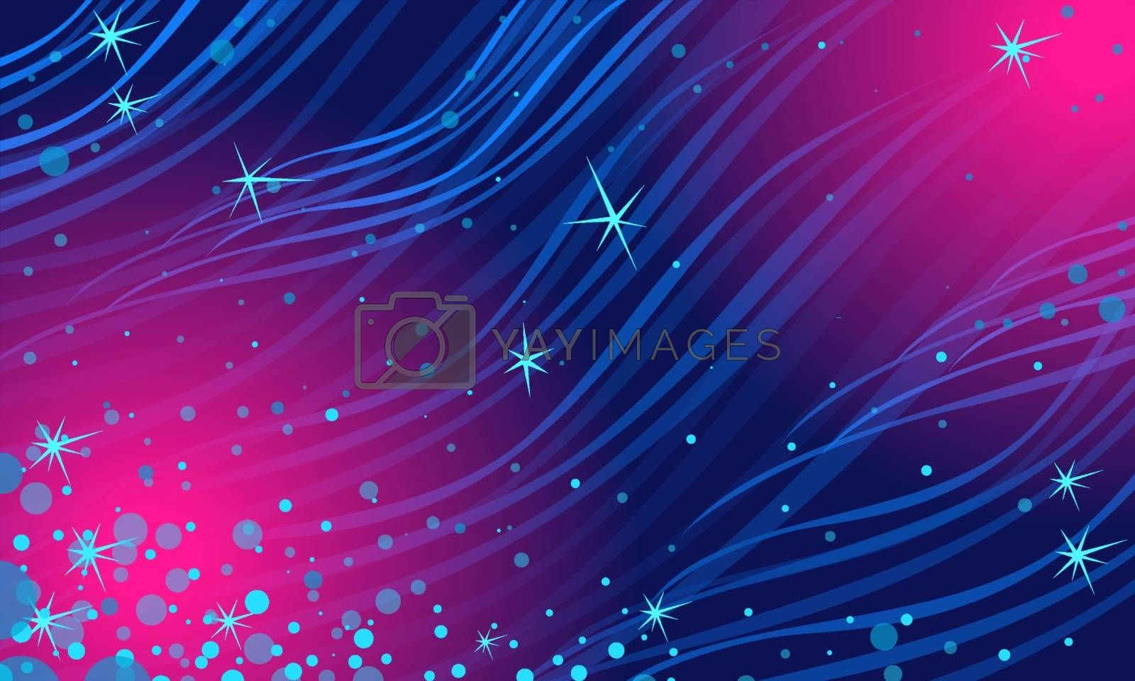 abstract blue Magenta night star background. Christmas and New year. Comic cartoon pop art retro vector illustration drawing