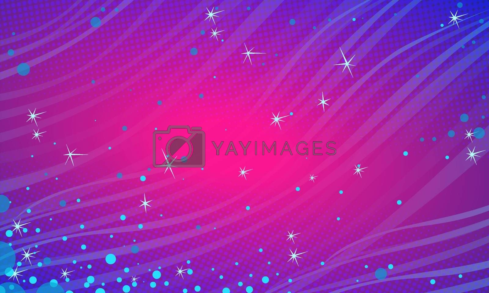 Blue Magenta snow festive abstract background. Christmas and New year. Comic cartoon pop art retro vector illustration drawing