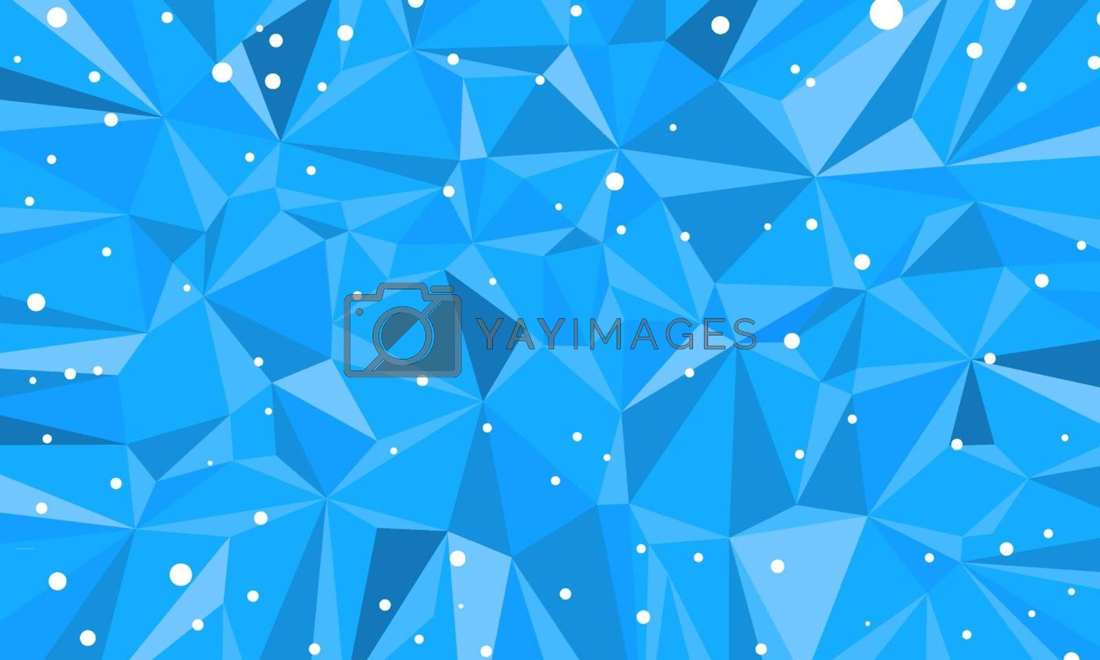 blue triangle abstract background Christmas and New year. Comic cartoon pop art retro vector illustration drawing