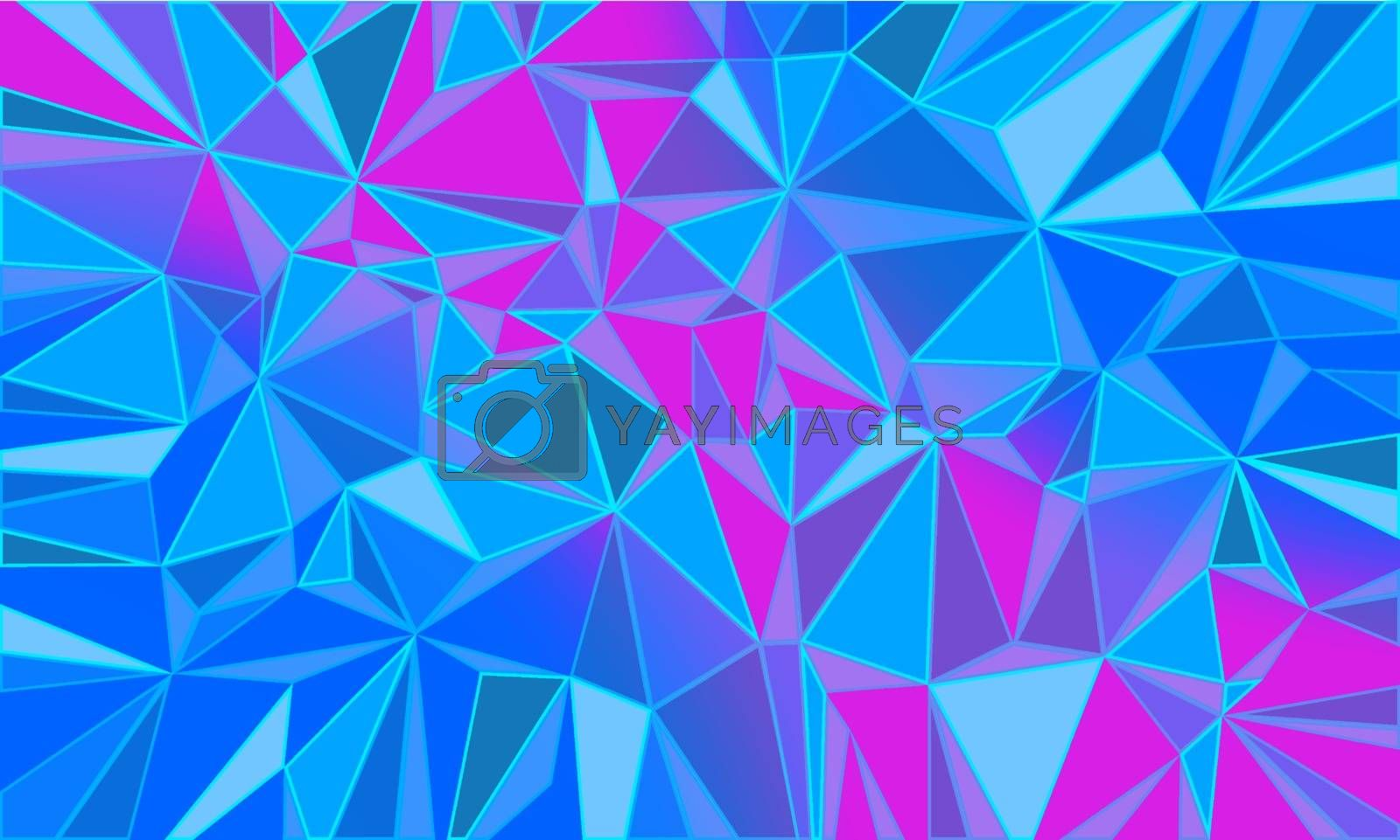 red blue triangle abstract background Christmas and New year. Comic cartoon pop art retro vector illustration drawing