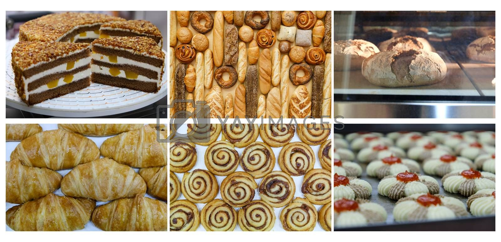 tasty pastry and Bakery foodstuffs collection by Margolana