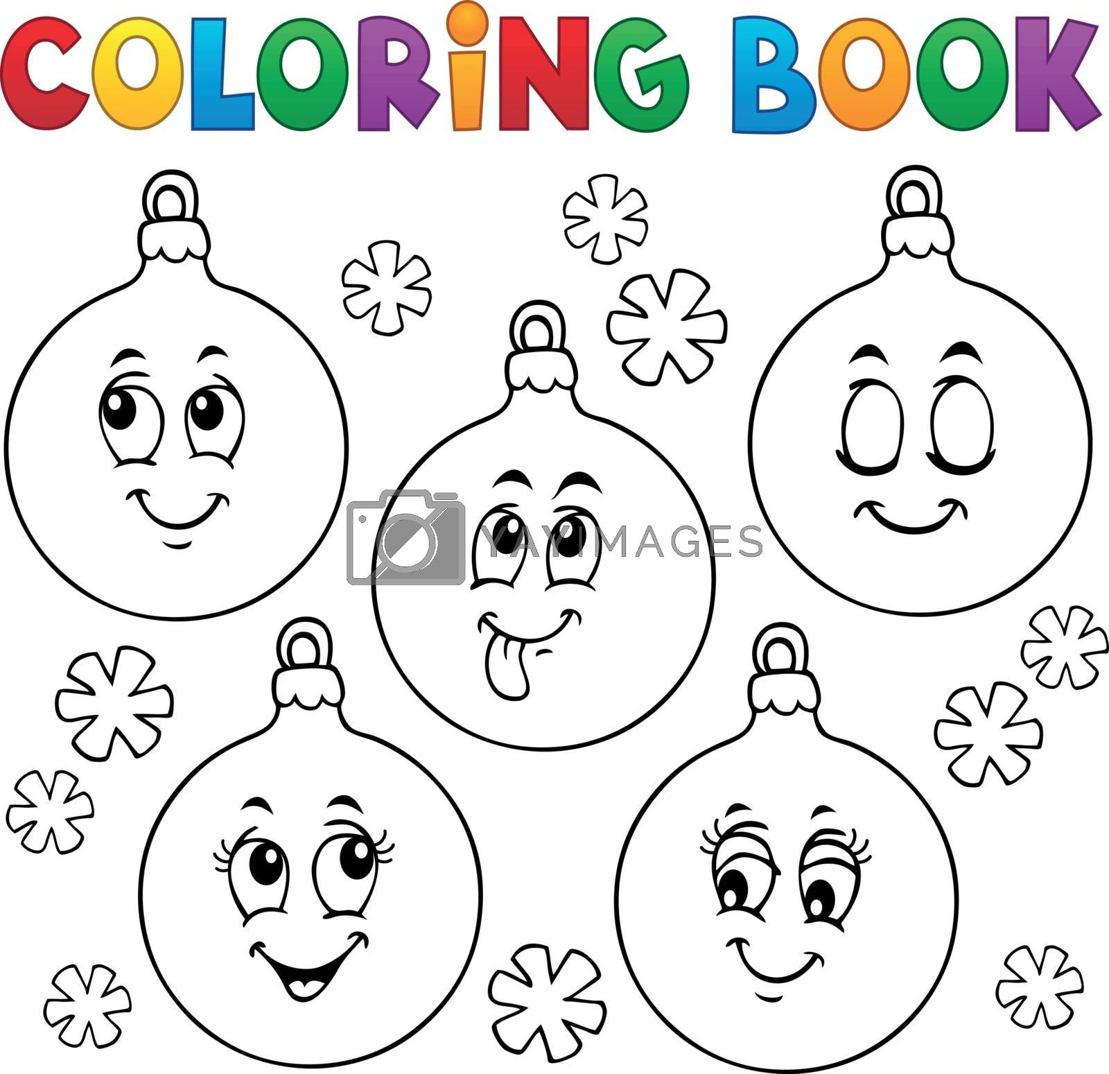 Coloring book Christmas ornaments 1 - eps10 vector illustration.
