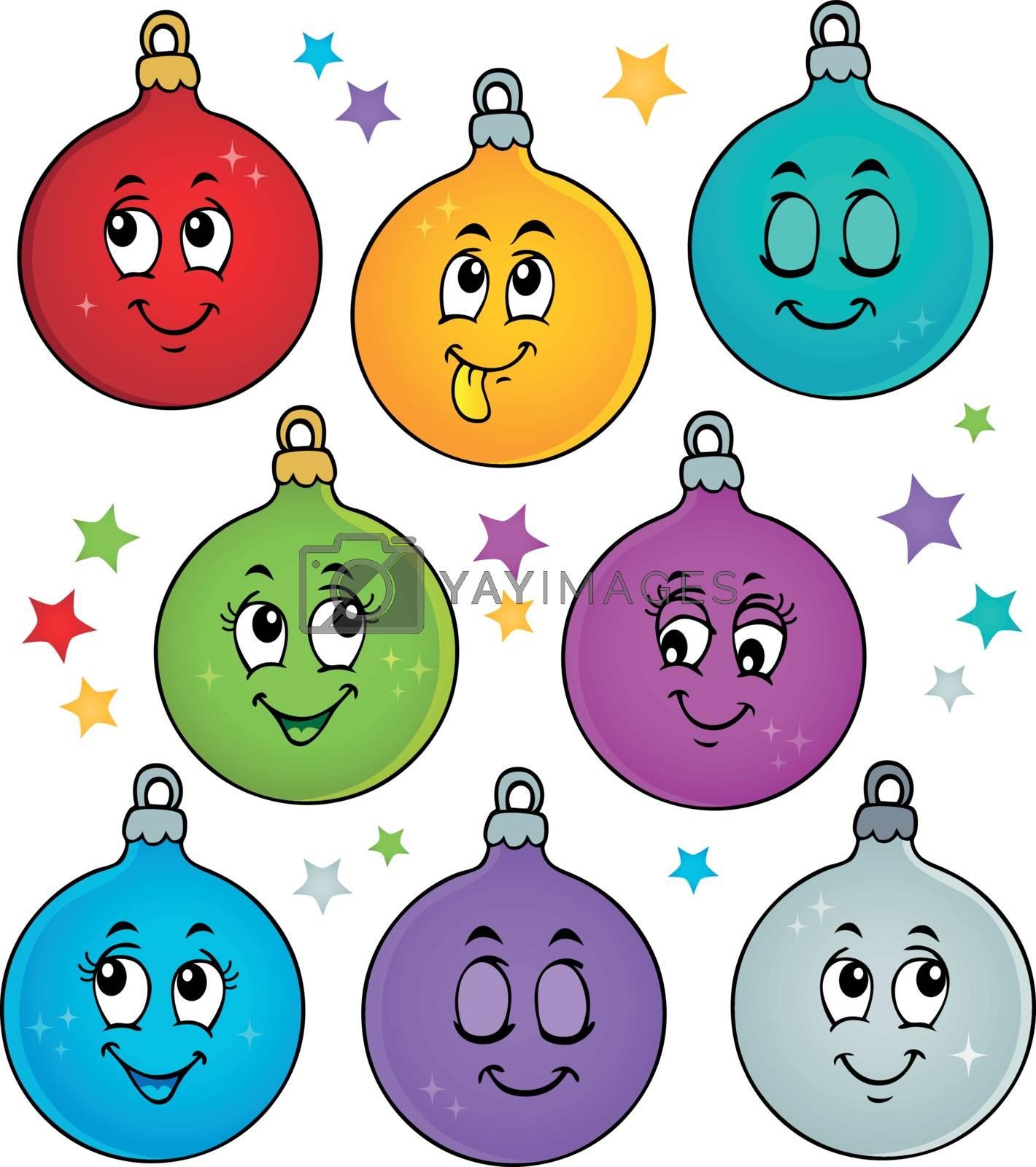 Happy Christmas ornaments theme image 1 - eps10 vector illustration.