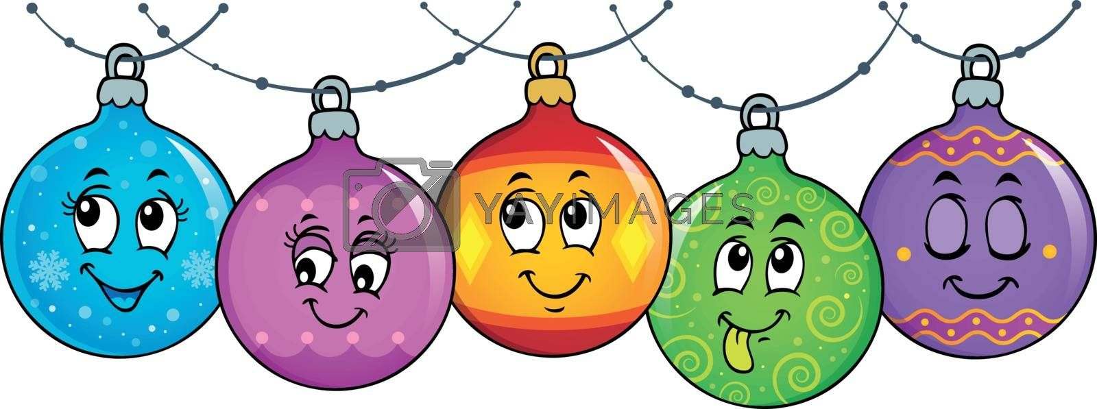 Happy Christmas ornaments theme image 3 - eps10 vector illustration.