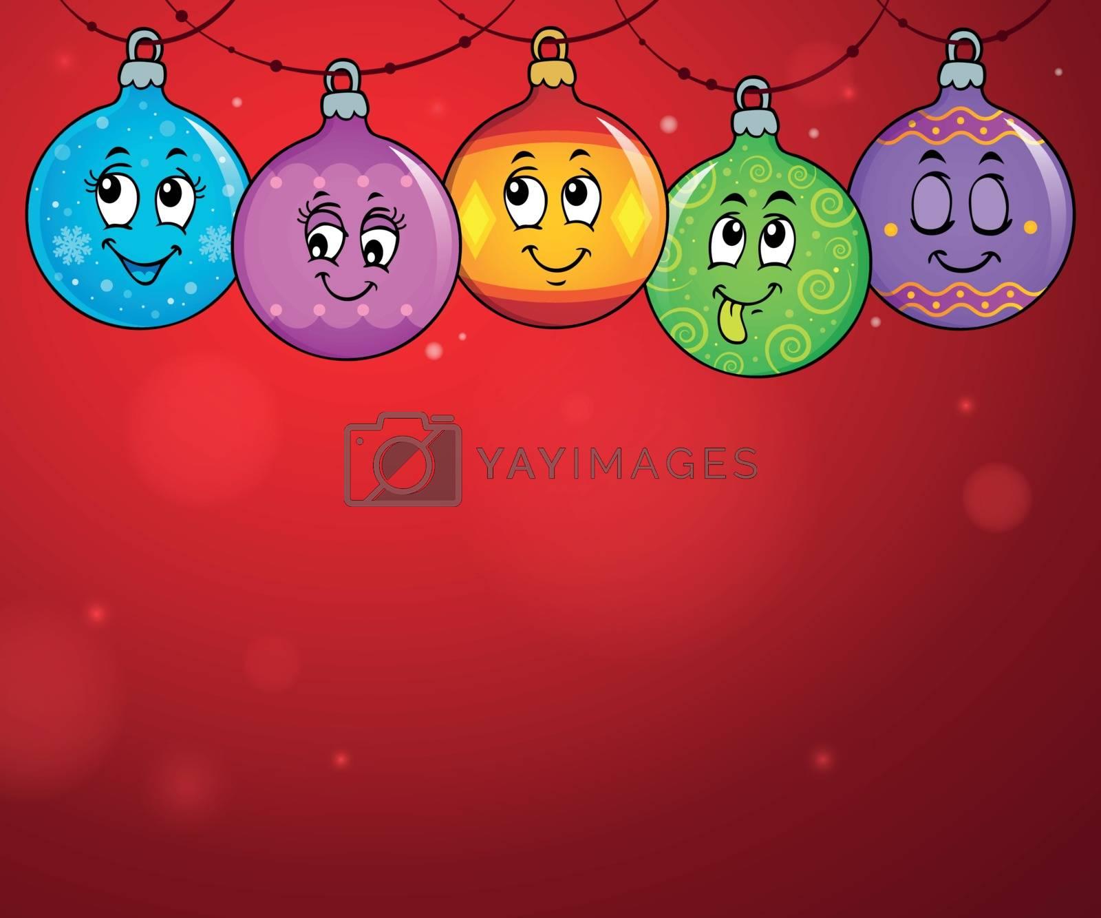 Happy Christmas ornaments theme image 4 - eps10 vector illustration.