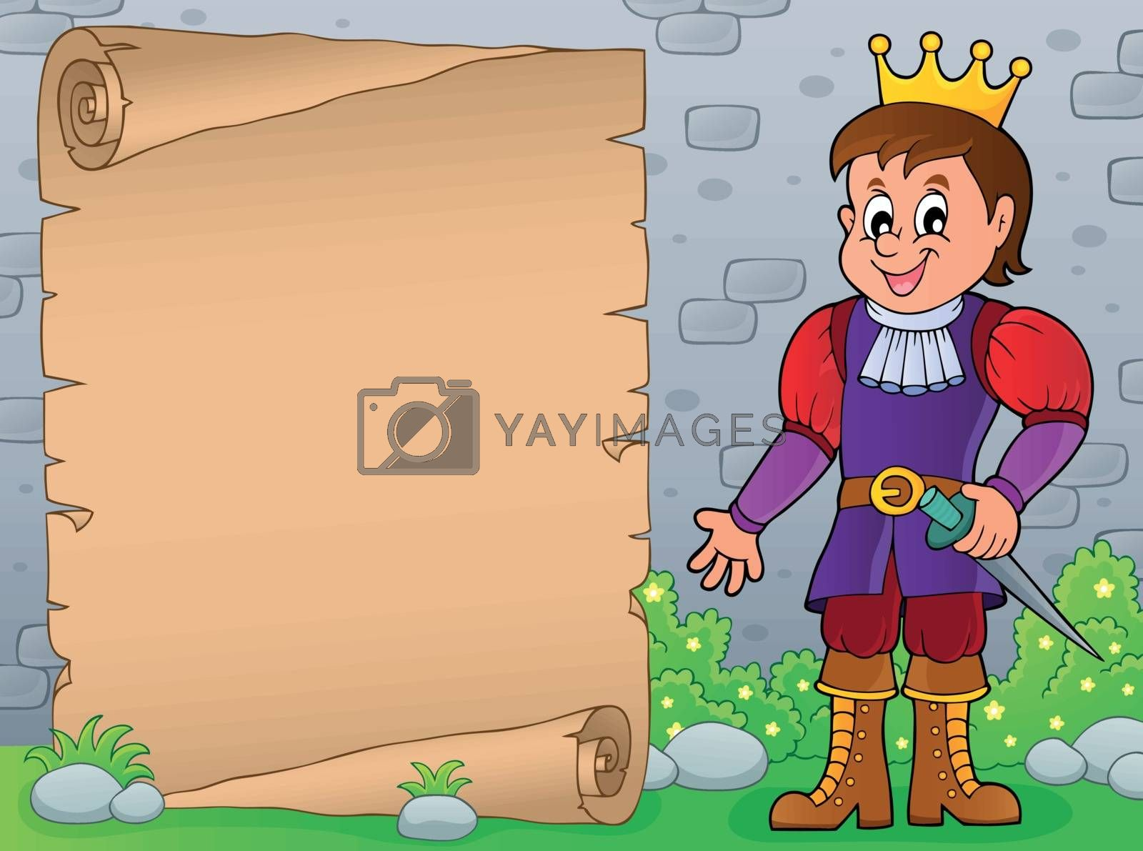 Parchment with prince theme 7 - eps10 vector illustration.