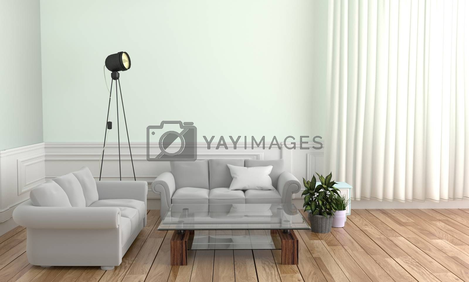 Royalty free image of Living room Interior Design - Scandinavian style. 3D rendering by Minny0012011@hotmail.com