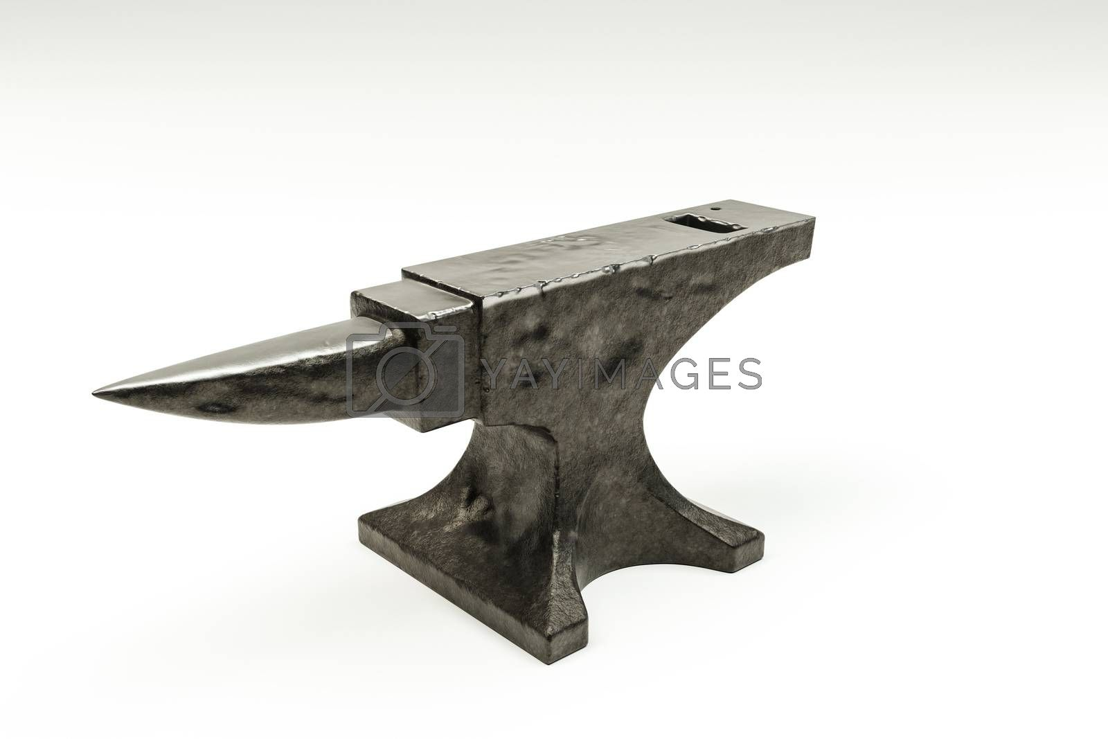 anvil isolated on white background 3d illustration