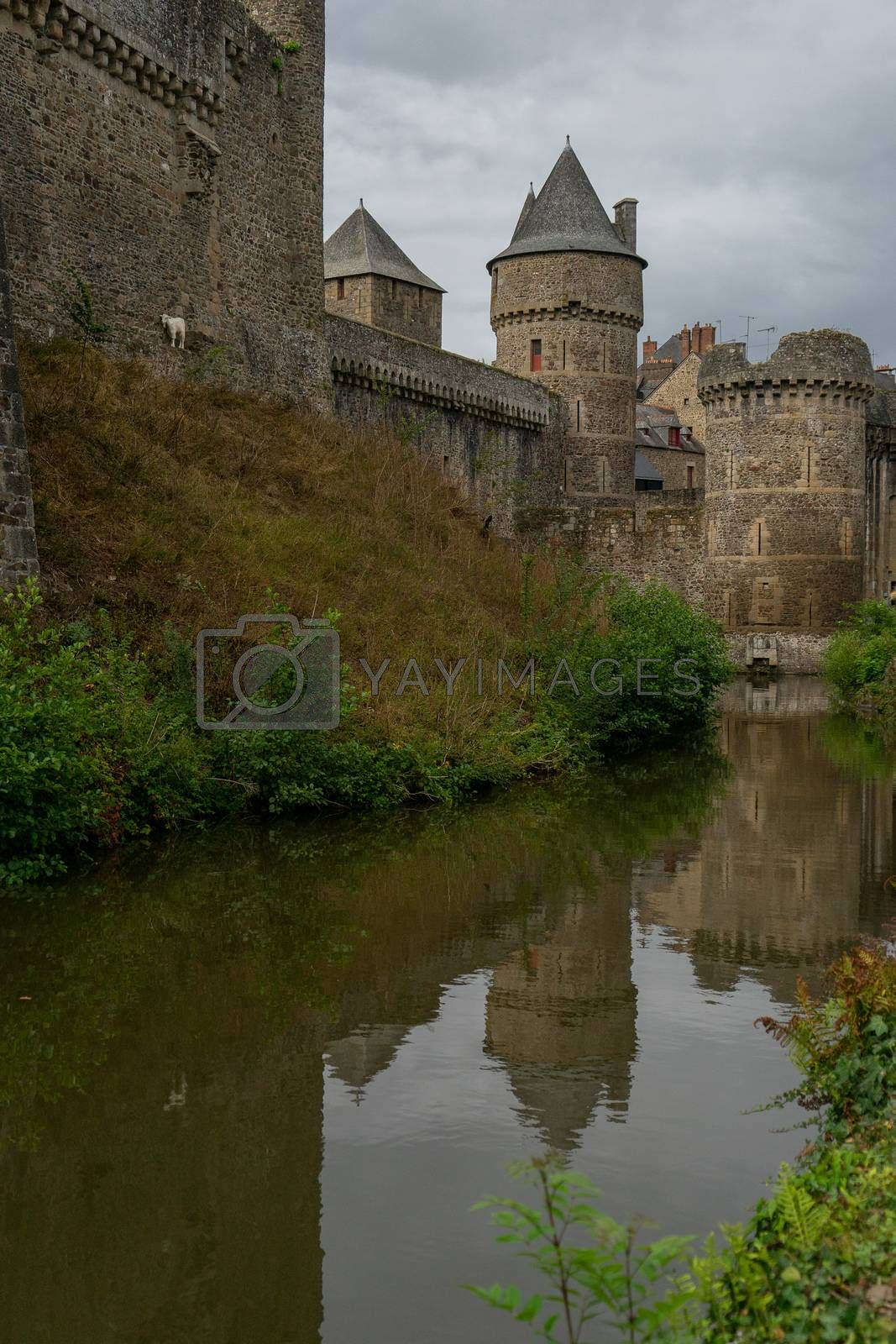 Vacation in france french normandy province castle and ruins