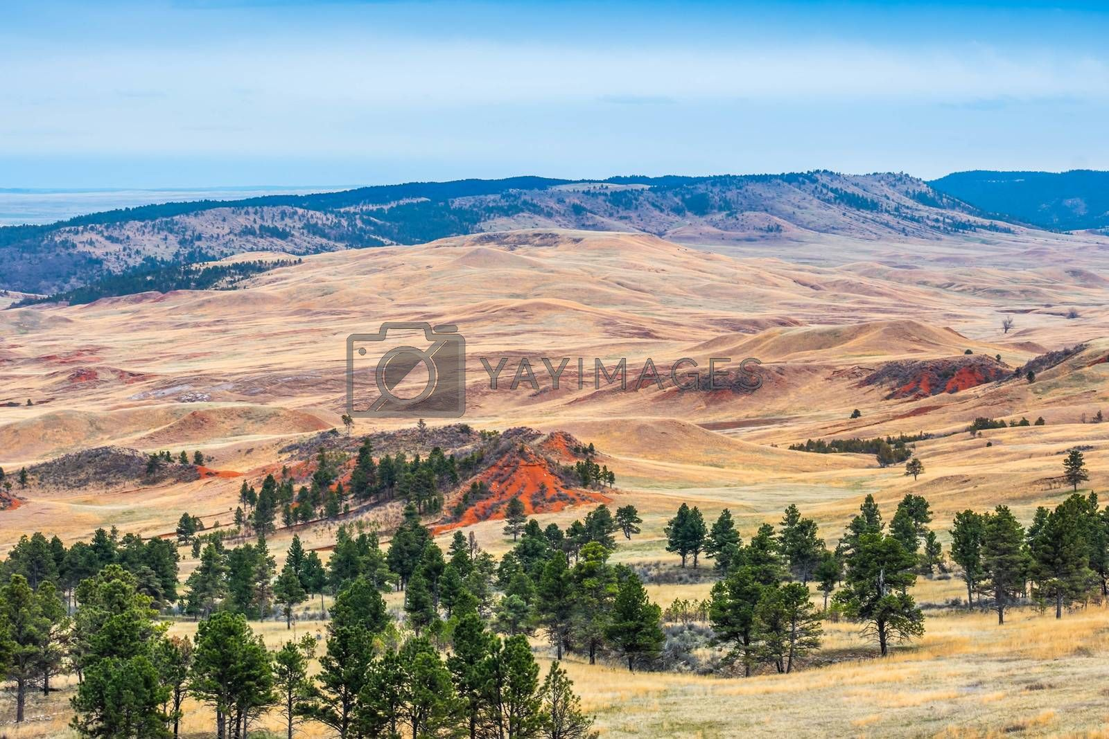 Epic landscape scenery from the walking trail of the national park