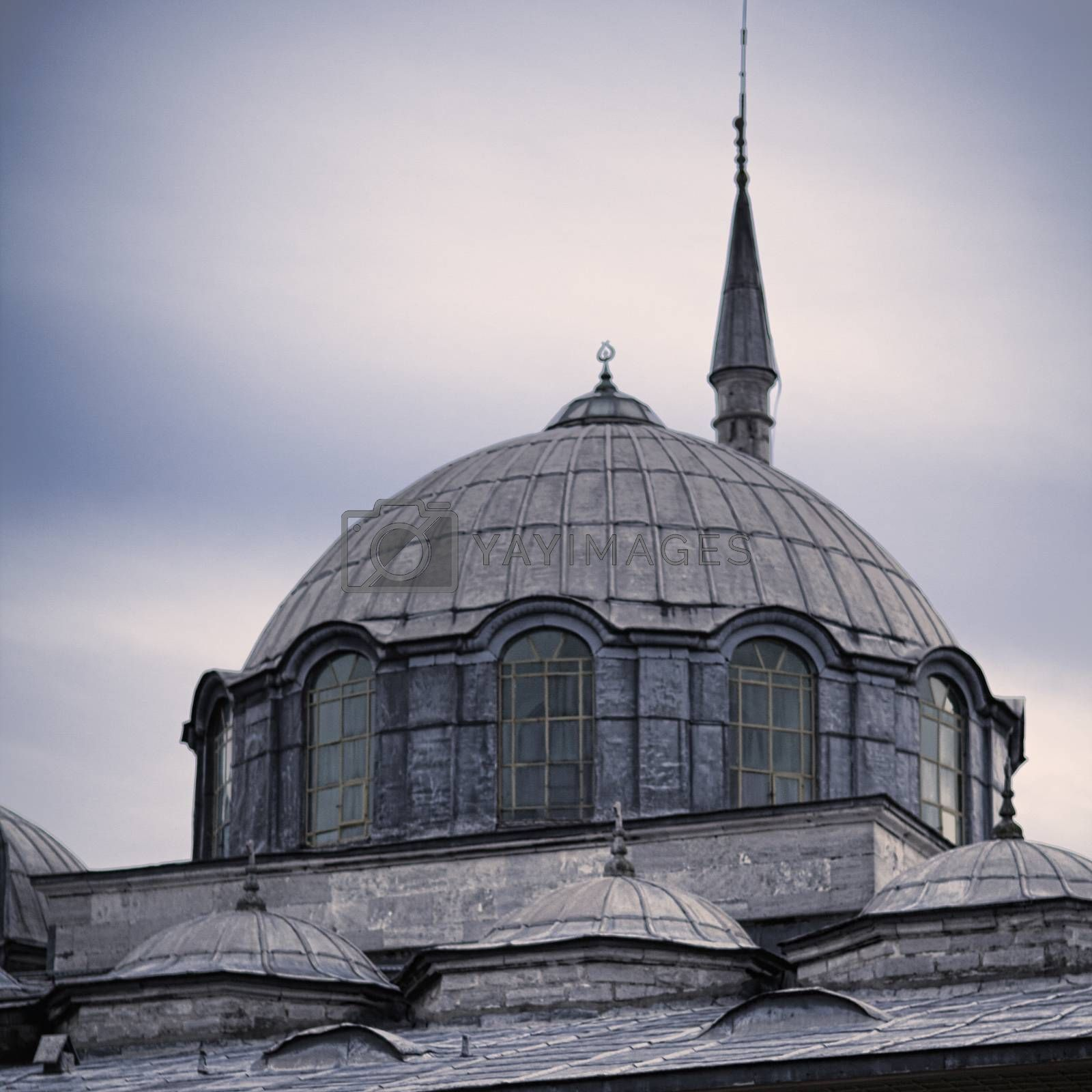 Topkapi palace tower in evening