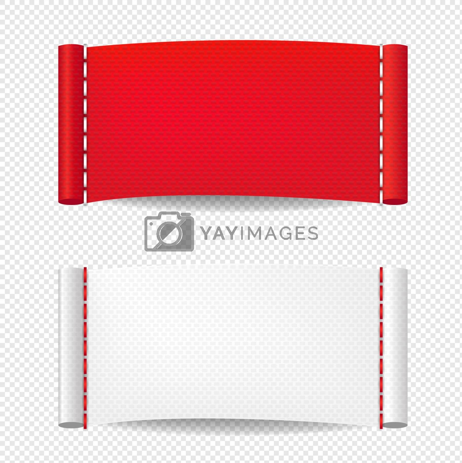 Clothing Label Isolated Transparent Background With Gradient Mesh, Vector Illustration