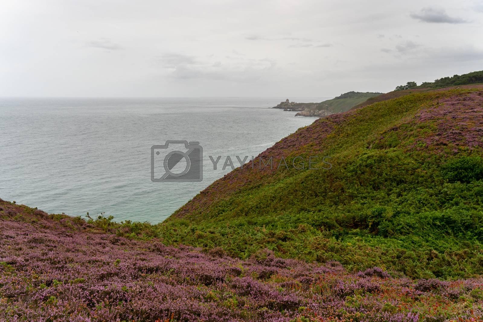 Hiking britanny sea shore vacation tourism for health