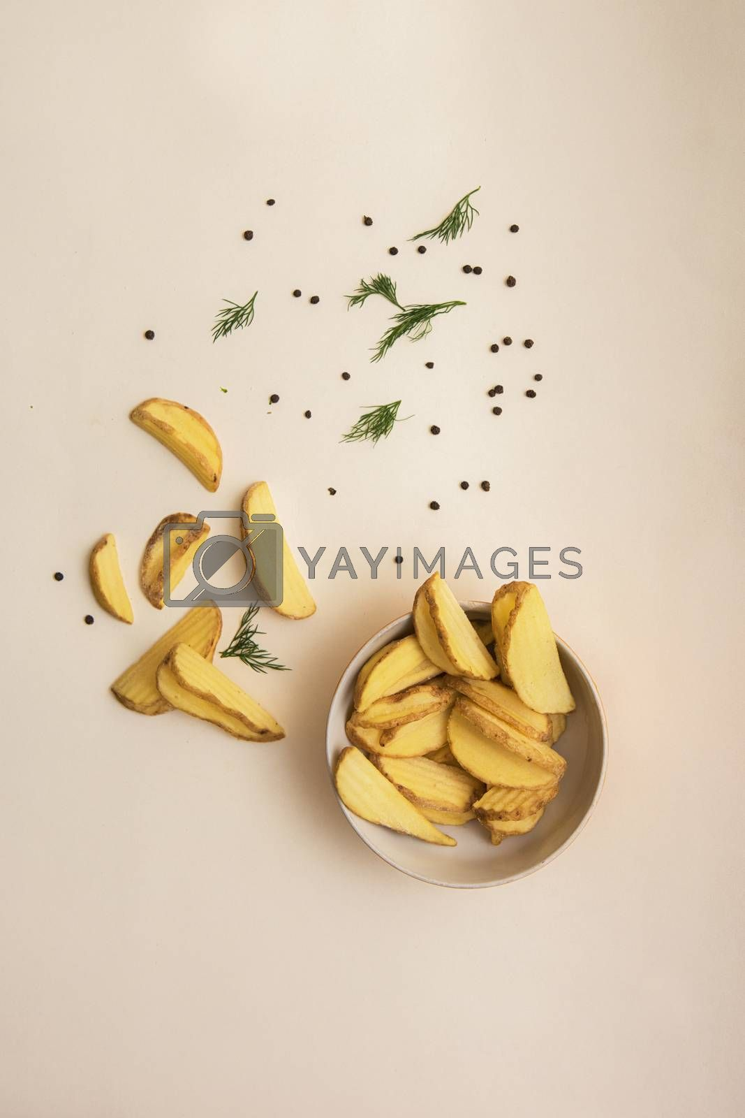 Royalty free image of Crisp golden fried french fries by rusak