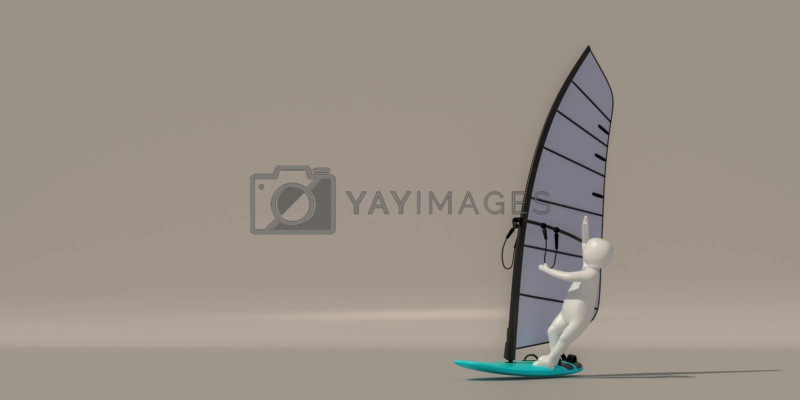 3d illustrator group of career symbols on a gray background, 3d  by put3d