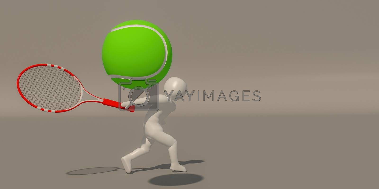 3d illustrator group of career symbols on a gray background, 3d rendering of the playing Sport. Includes a selection path.