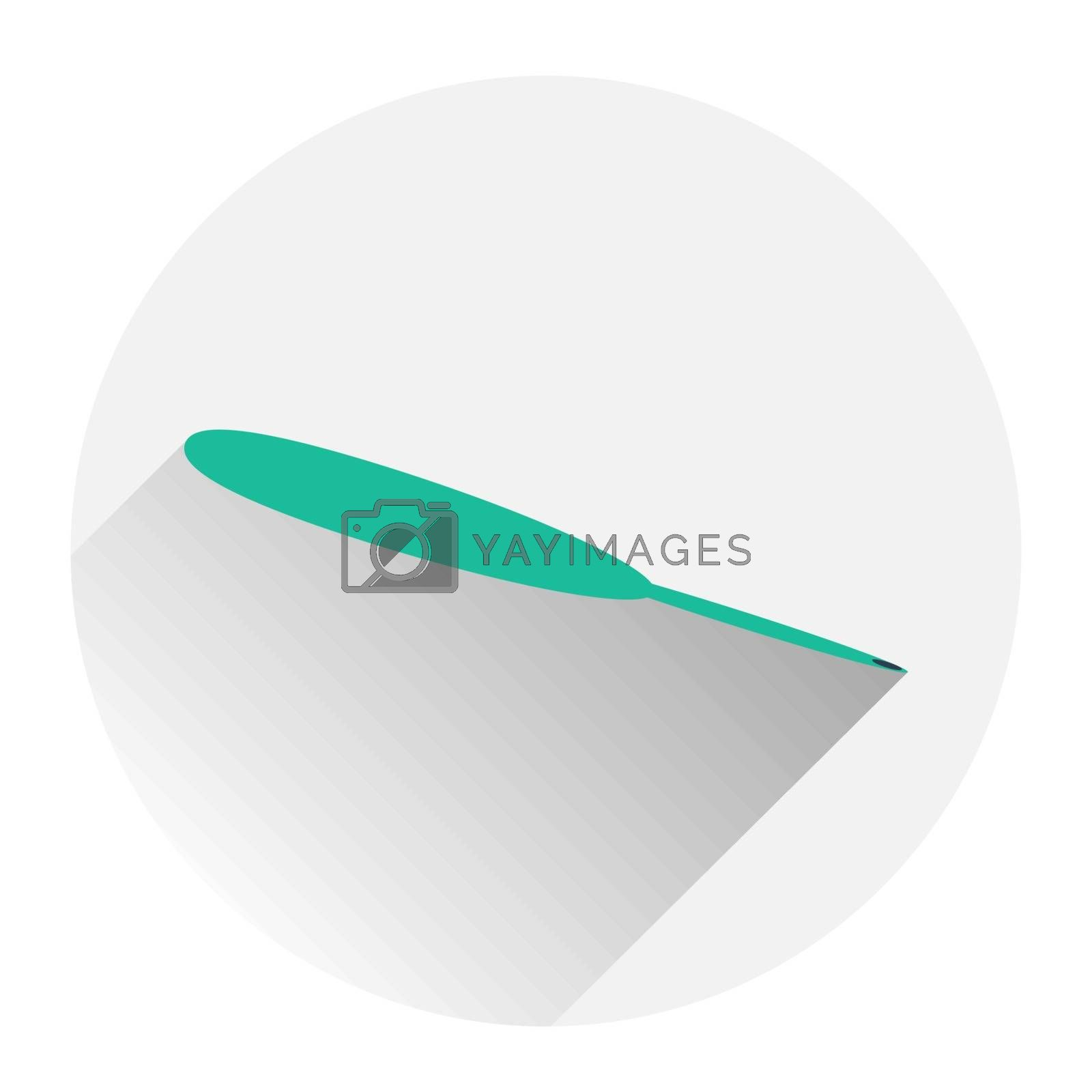 Steel dental surgical forceps icon. Flat illustration of steel surgical forceps vector icon for web isolated on grey background