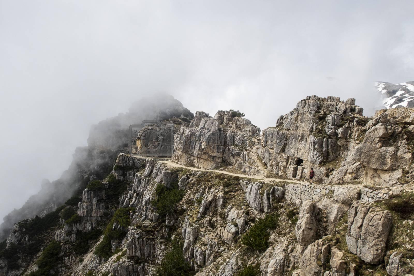 pasubio mountain in the italian alps