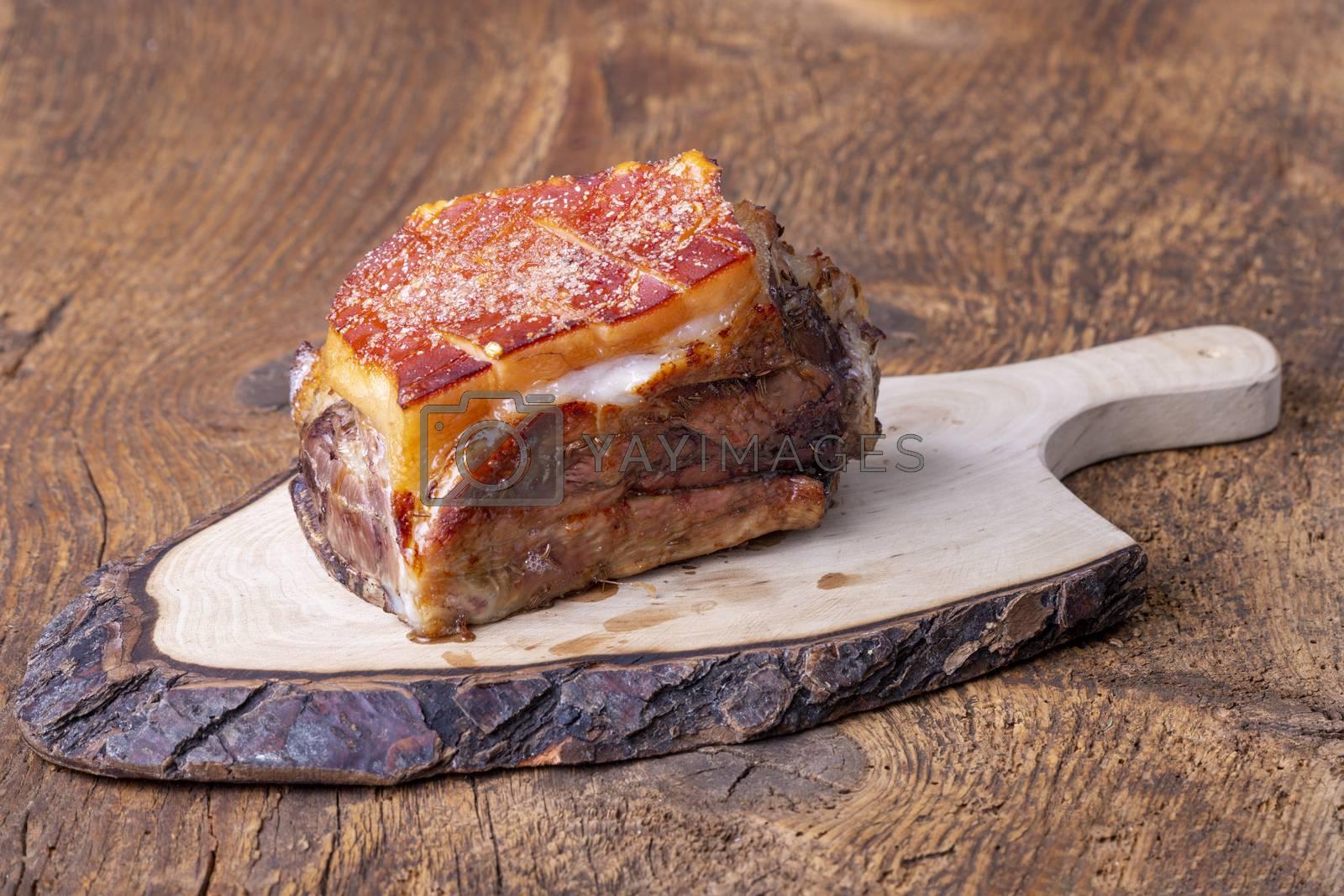 grilled frankonian schaeufele