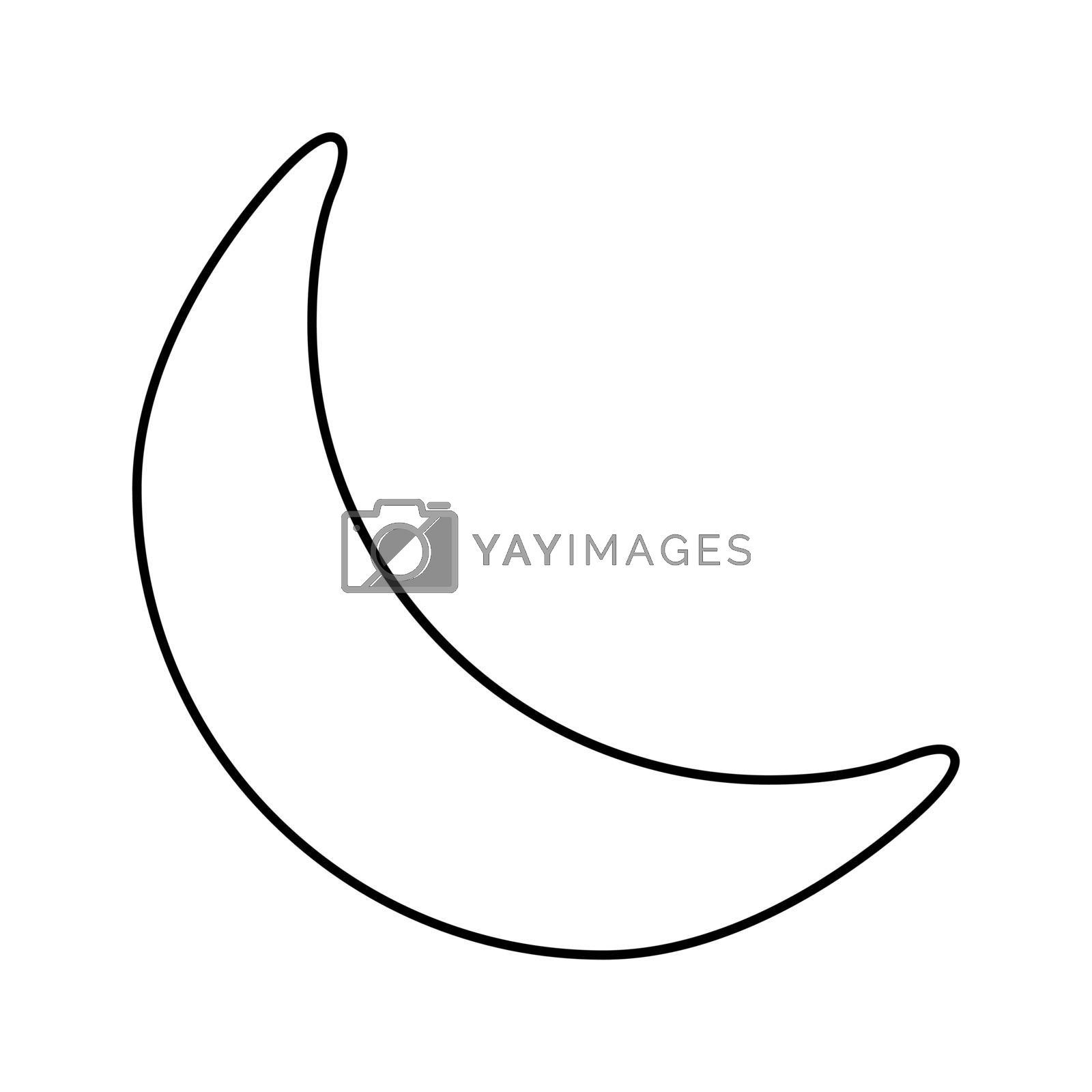 Download Crescent Moon Vector Free