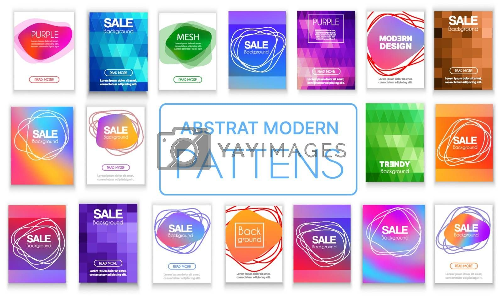 A set of vector abstract backgrounds for web design and stock illustration.
