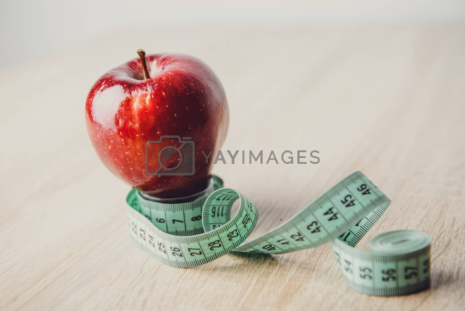 One ripe red apple. Isolated on a white background