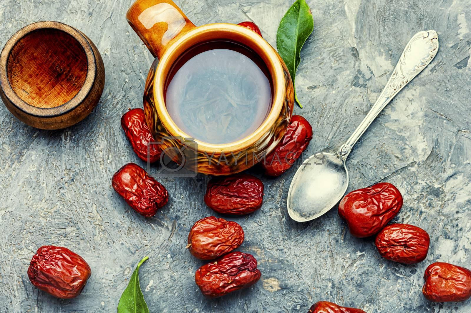 Tea from unabi or jujube.Herbal medicine.Chinese traditional medicine.