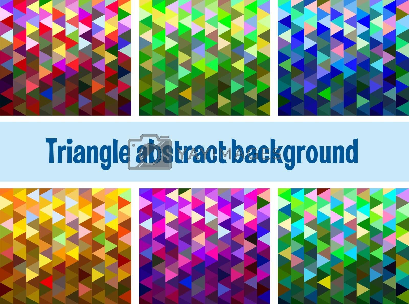 Multicolor triangular mesh mosaic background, creative design templates
