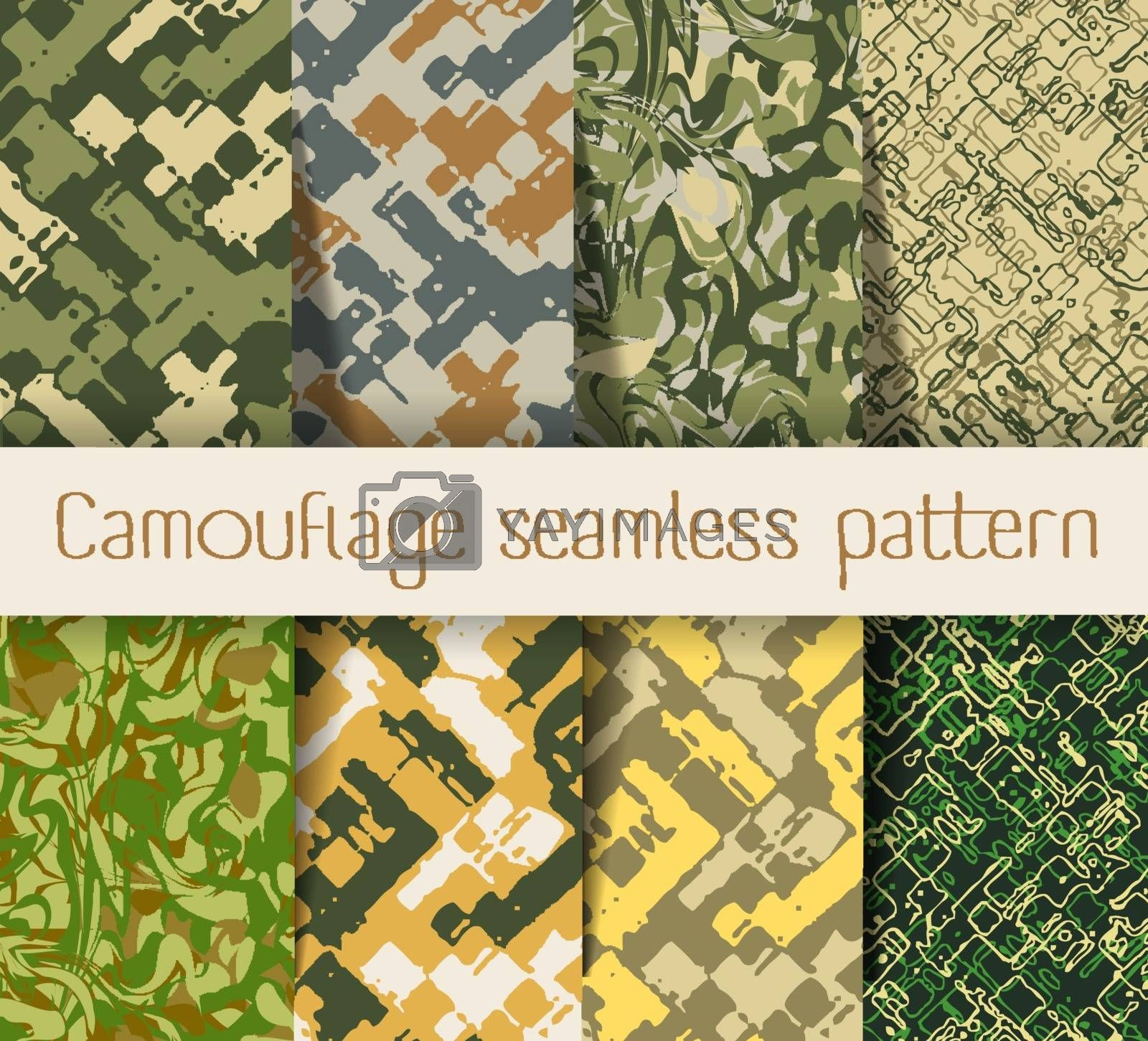 Camouflage seamless pattern. Military Army camouflage pattern design